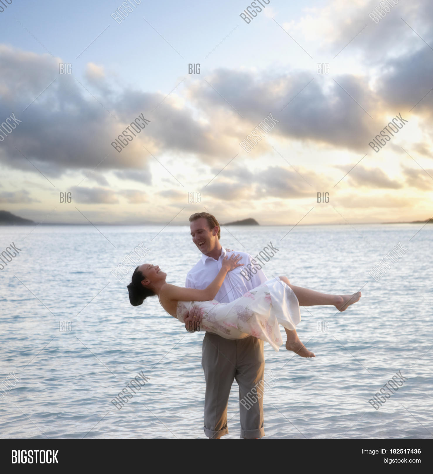 Man Carrying Woman Beach Image & Photo | Bigstock