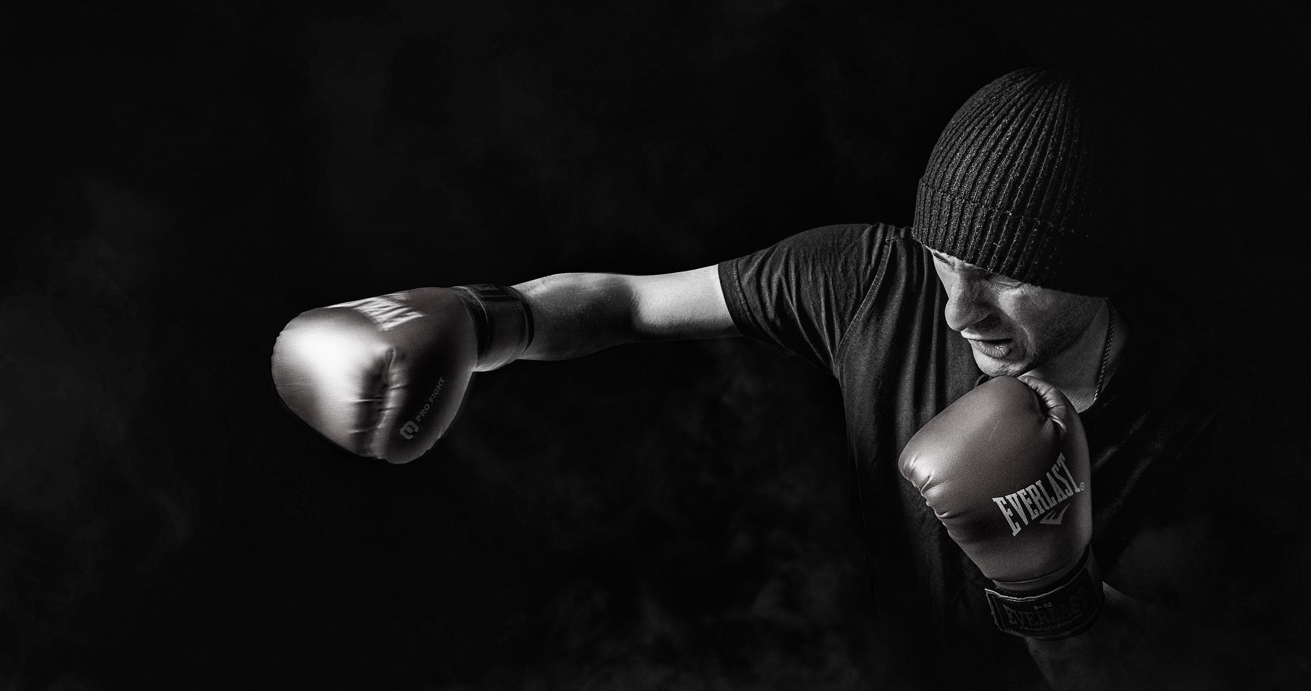 Man Doing Boxing, Male, Training, Strength, Sport, HQ Photo