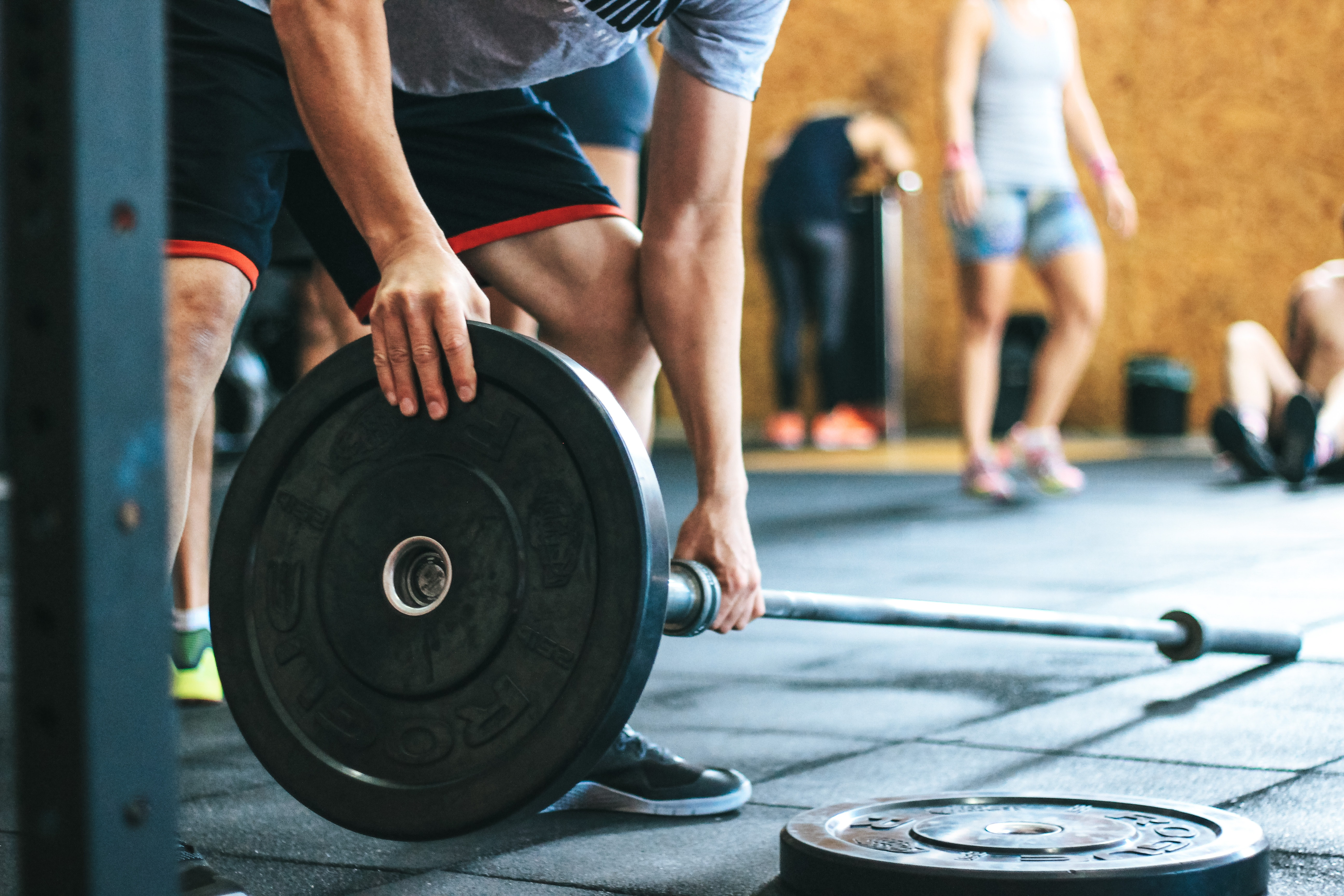 Man Holding Black Barbell, Active, Indoors, Weights, Weightlifting, HQ Photo