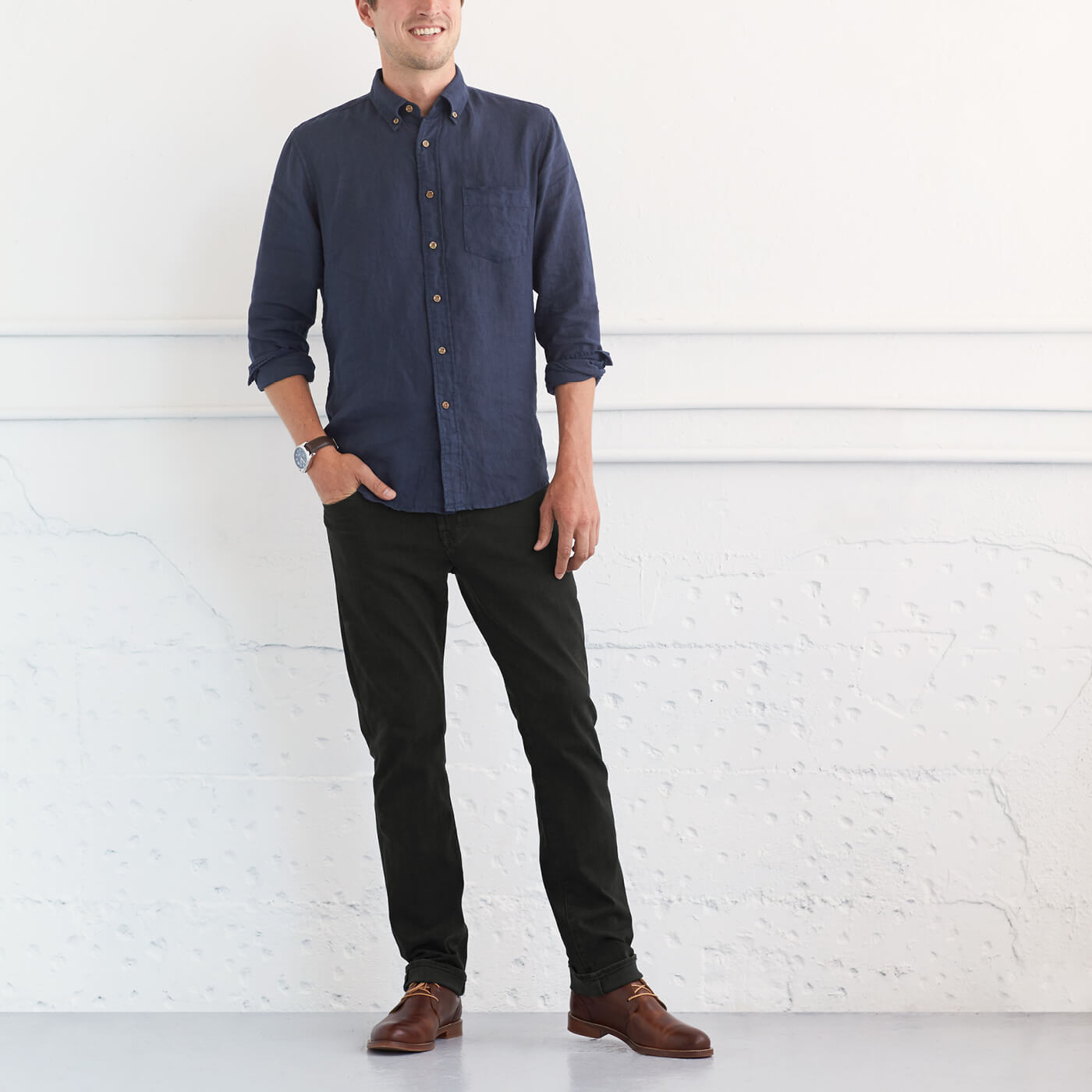 Can I wear brown shoes with black pants? | Stitch Fix Men