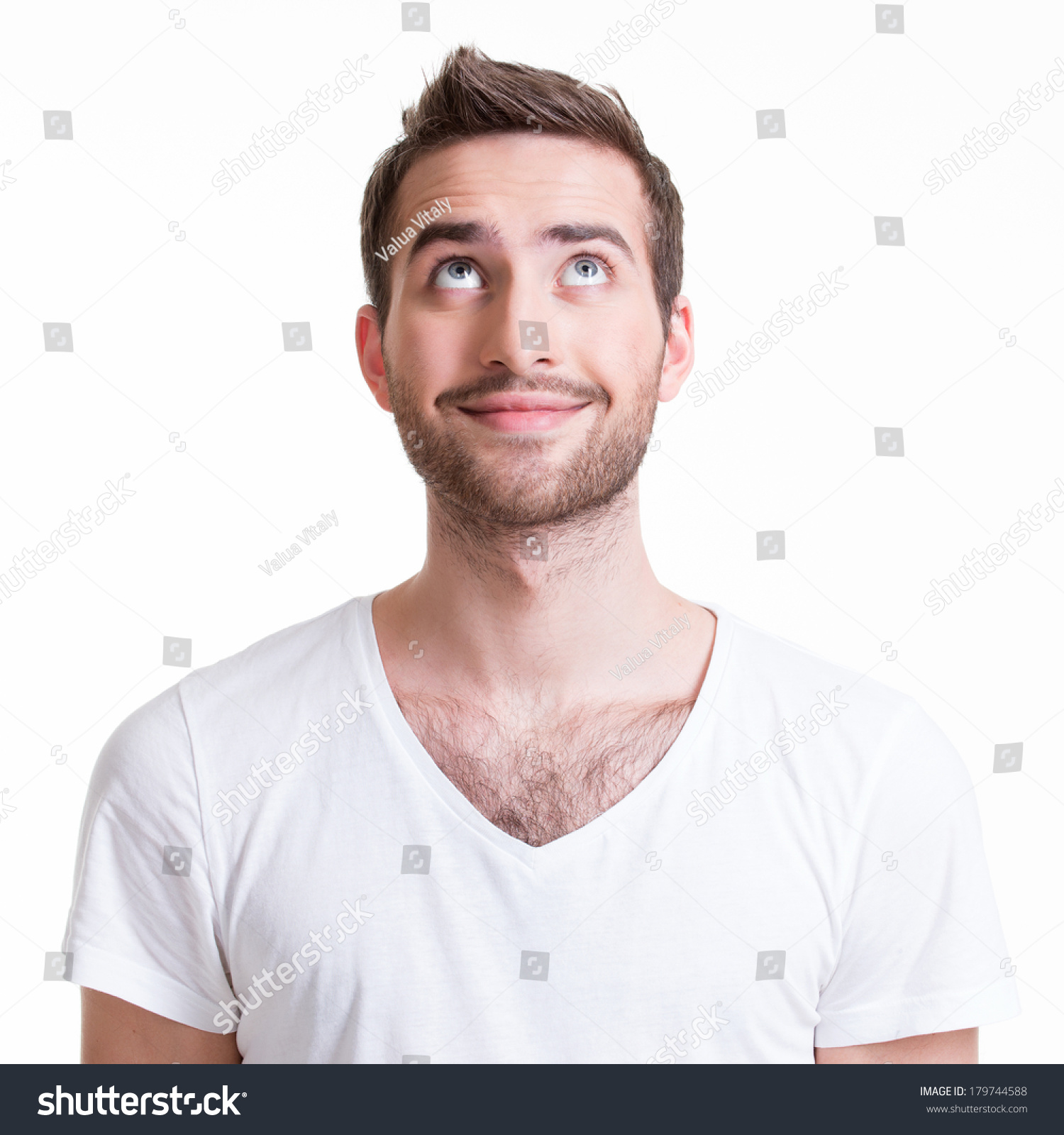 Portrait Smiling Happy Young Man Looking Stock Photo & Image ...