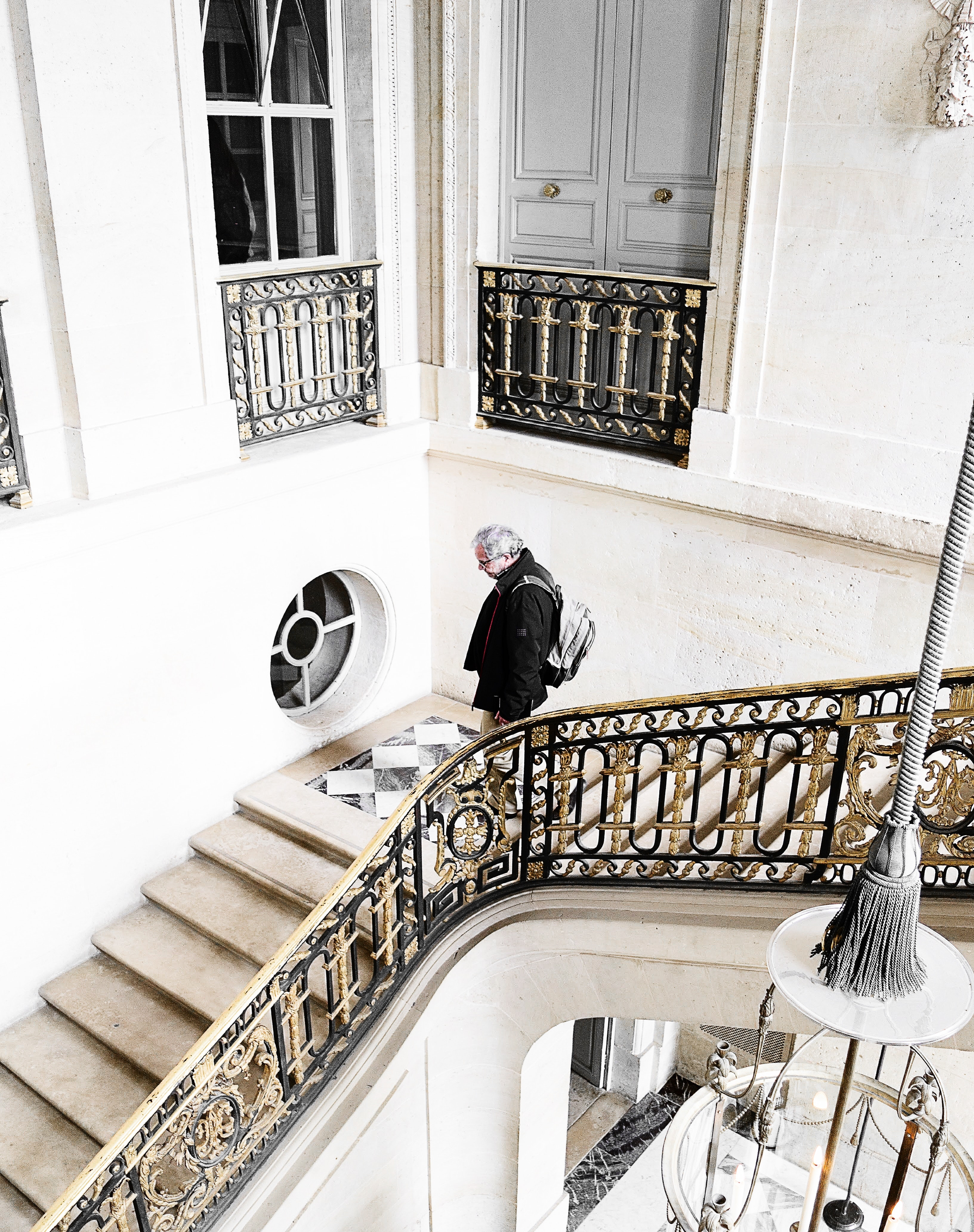 Man on stairs photo