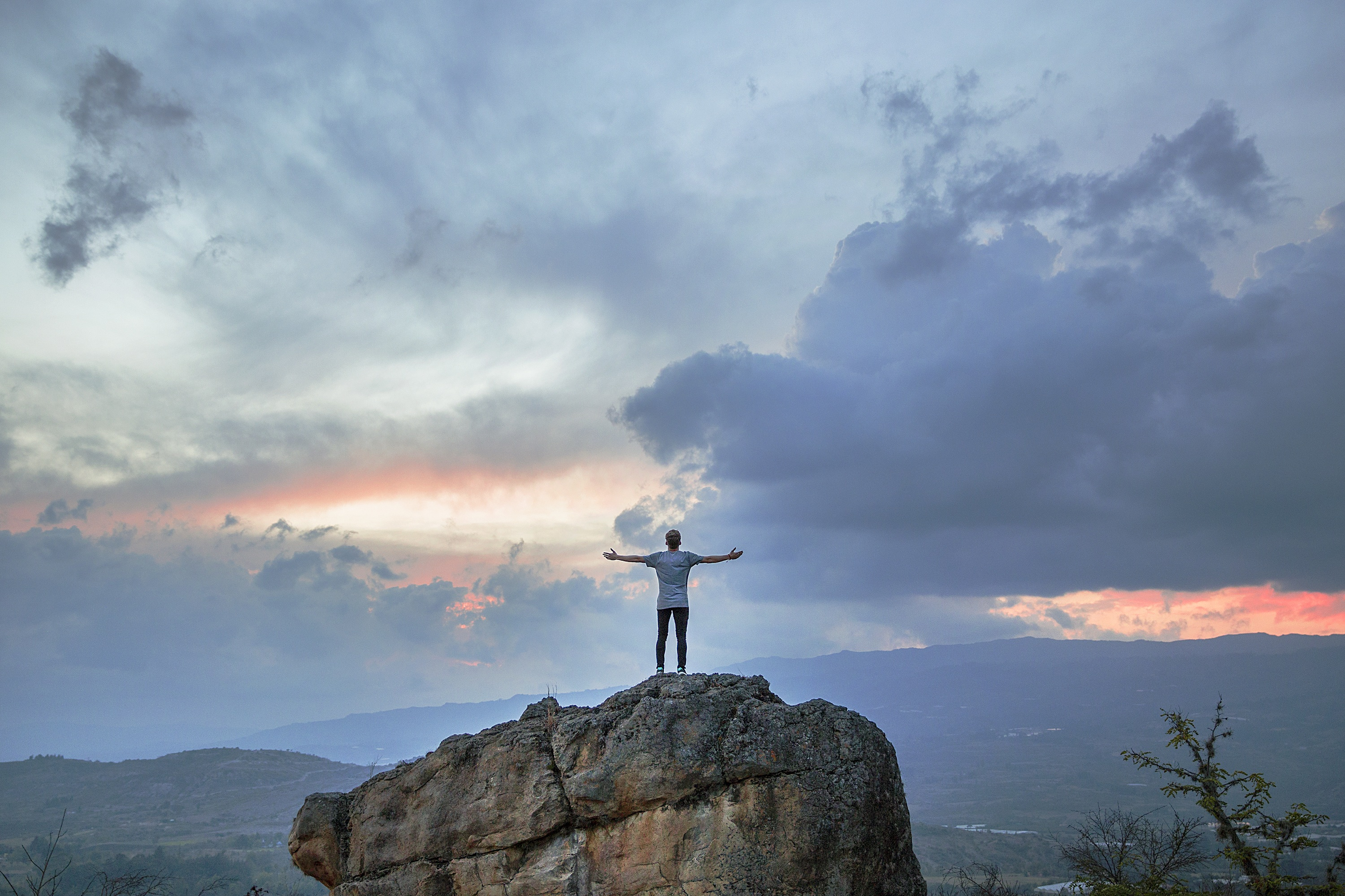 Man On The Cliff, Activity, Cliff, Hill, Human, HQ Photo
