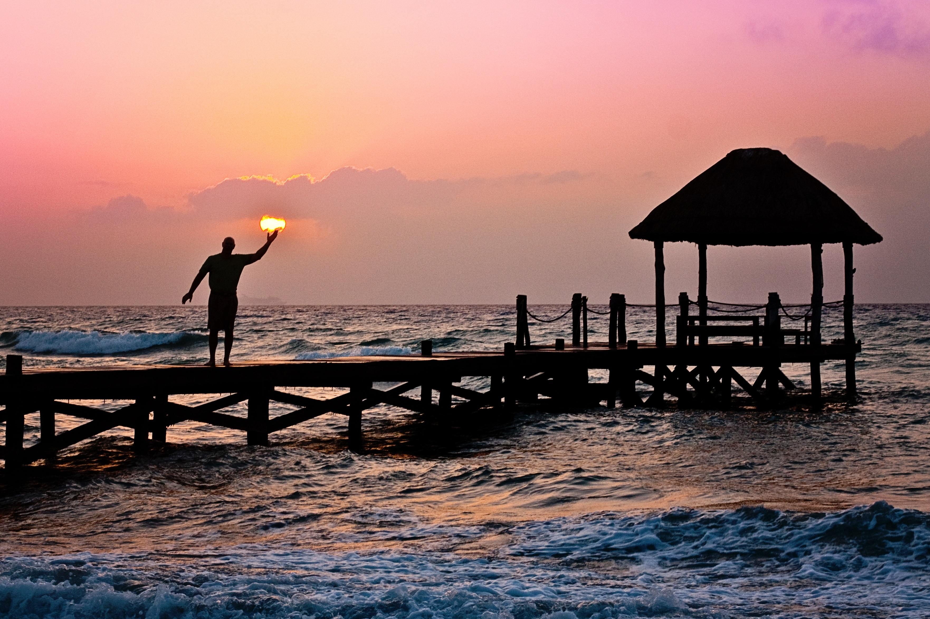 Man on the Dock, Activity, Beach, Construction, Dock, HQ Photo