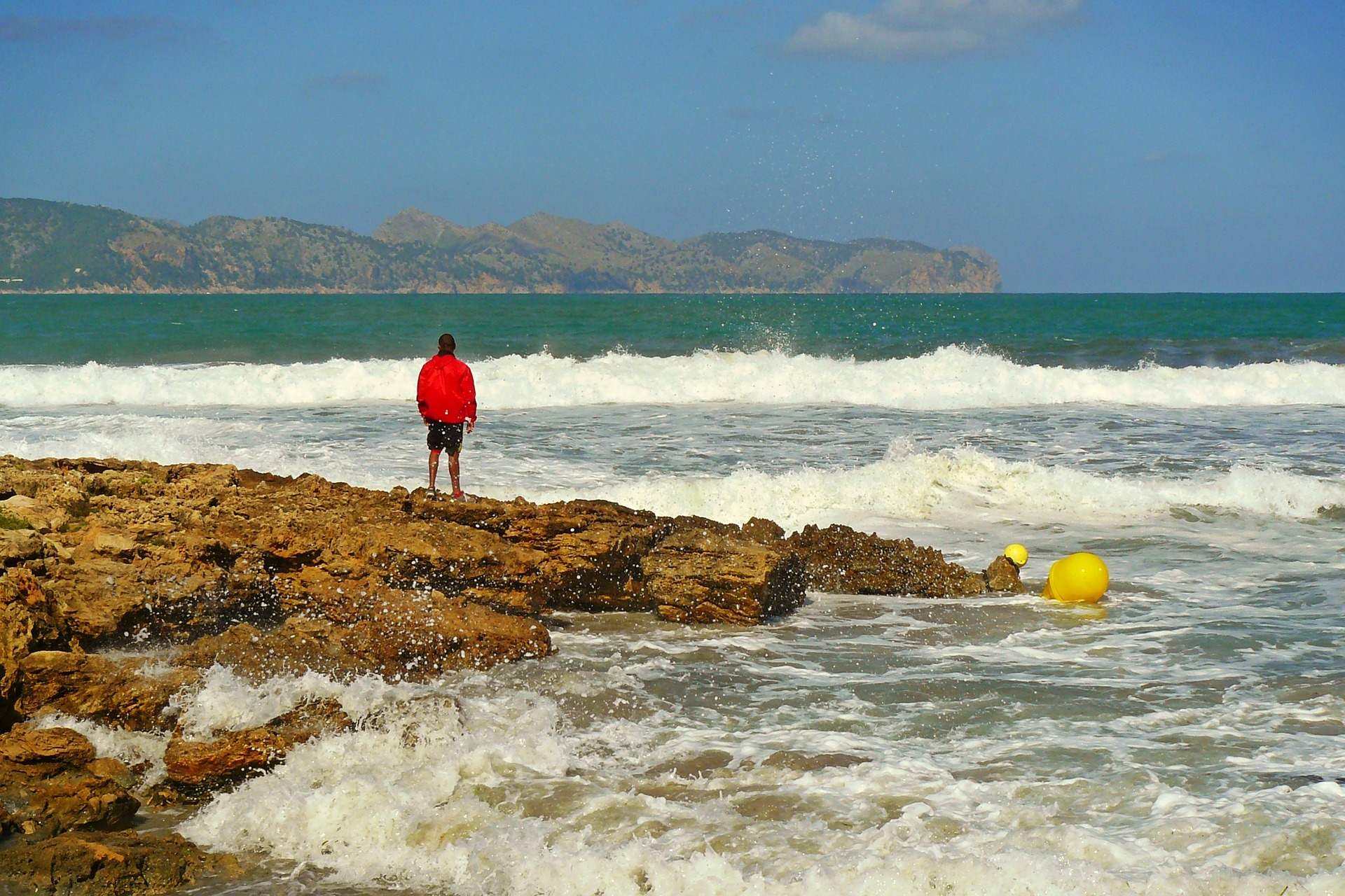 Man on the shore photo