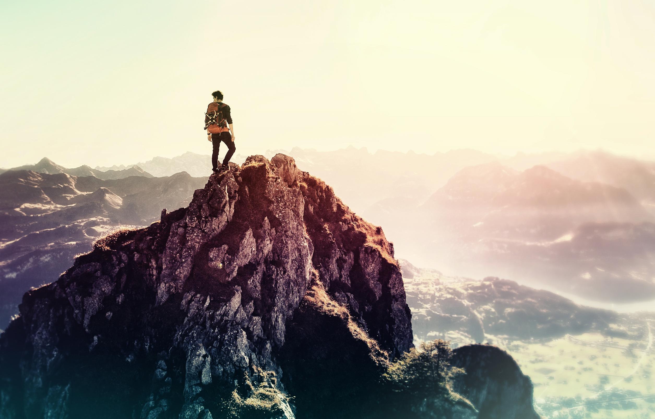 Man on the summitt - achiever photo