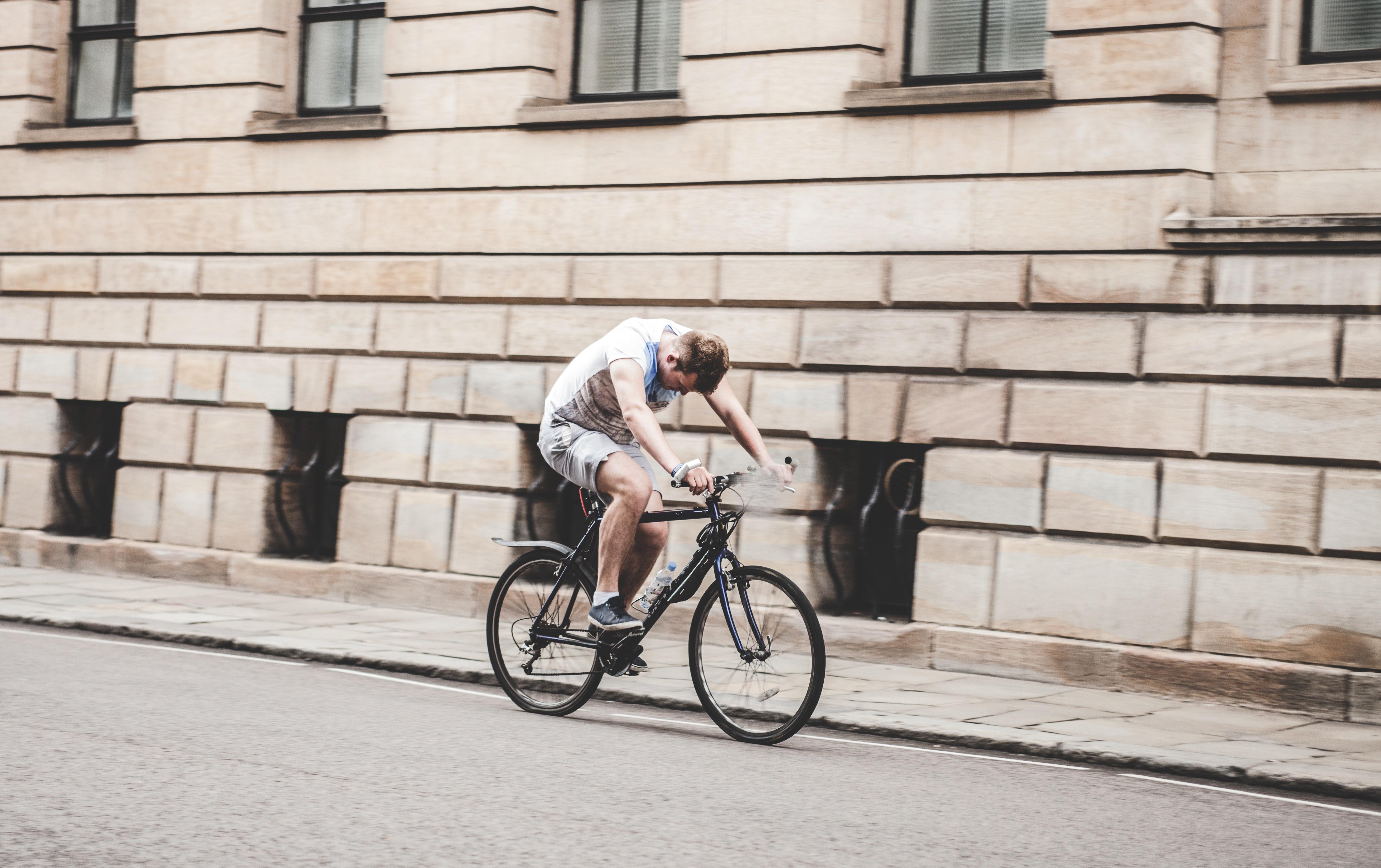 Man Riding Black Mountain Bike on Pathway during Daytime, Bicycle, Bike, Cyclist, Exercise, HQ Photo