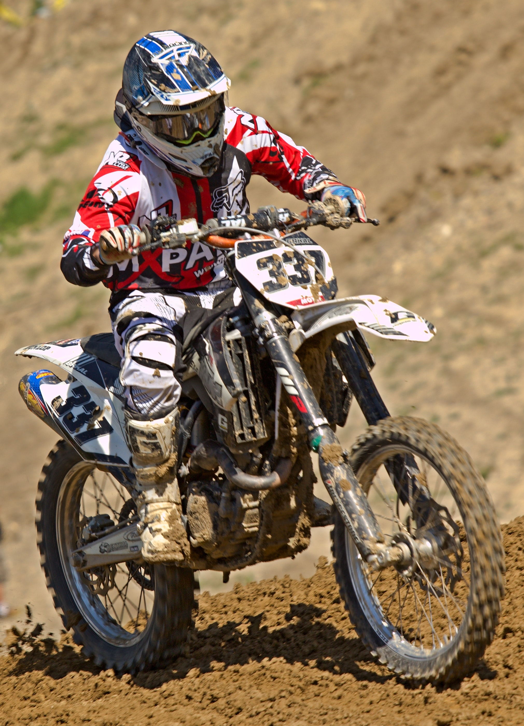 Man Riding Off Road Motorcycle on Trail, Biker, Dirt bike, Helmet, Motocross, HQ Photo