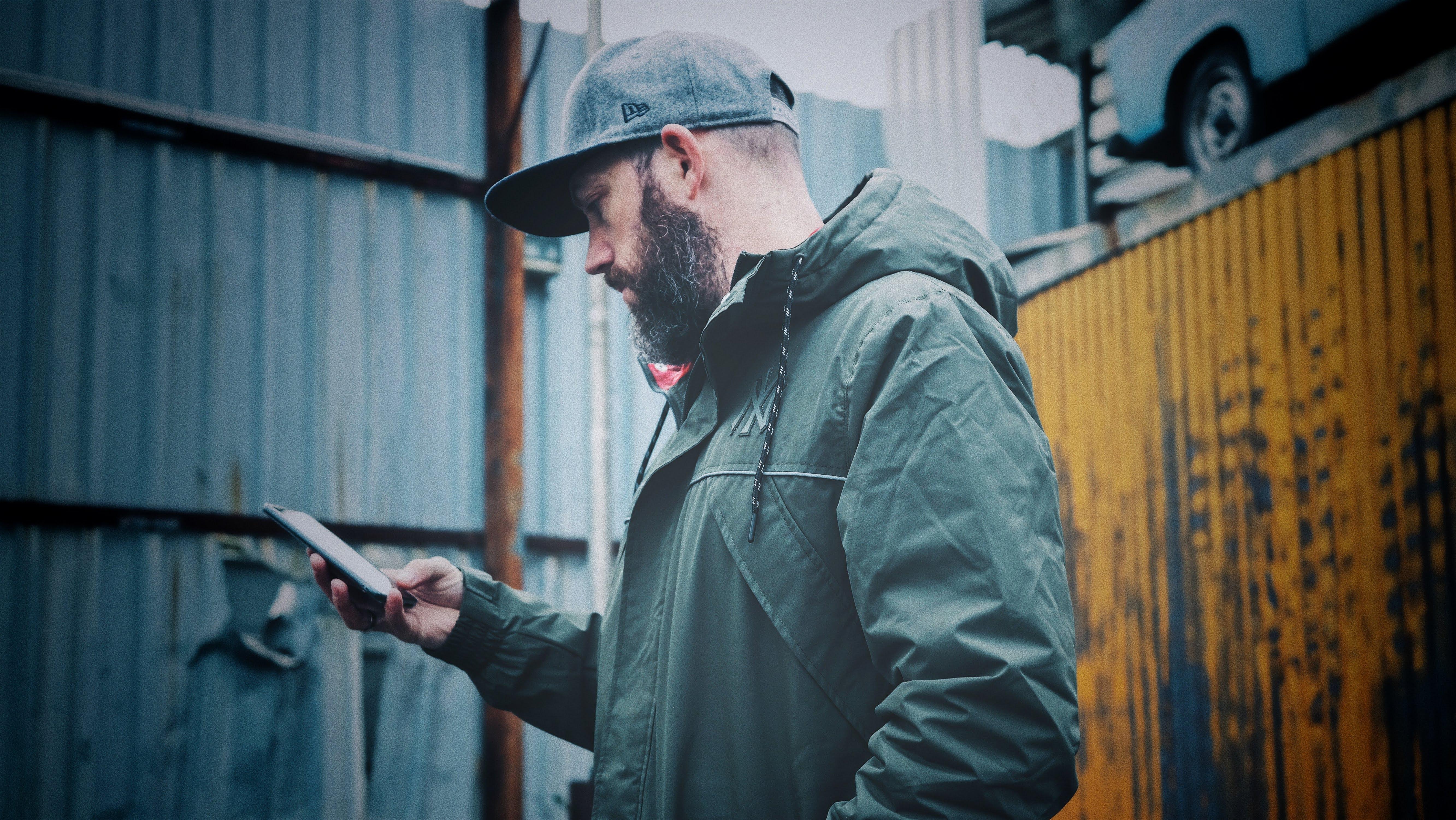 Man wearing black hoodie photo