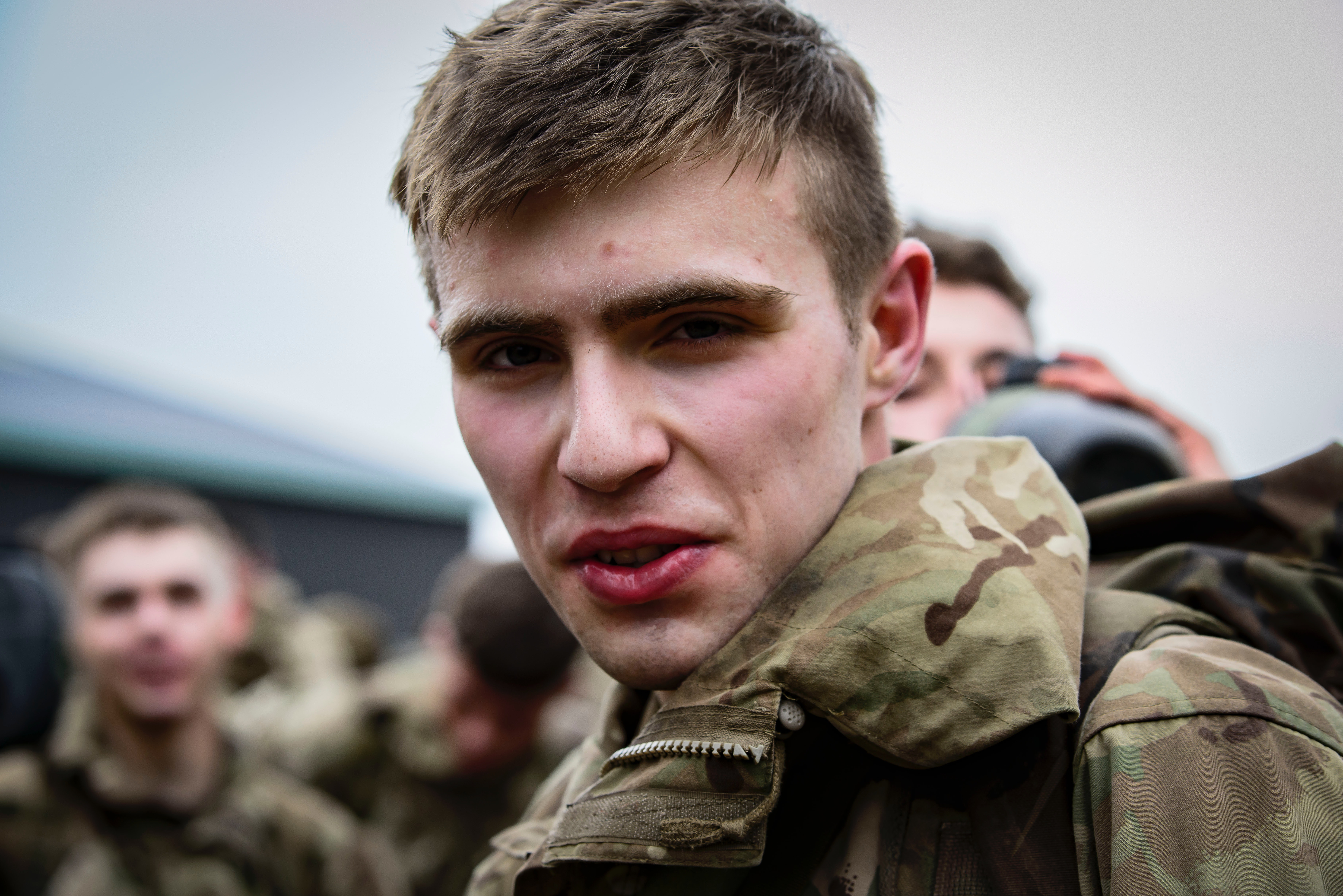 Man wearing military uniform photo