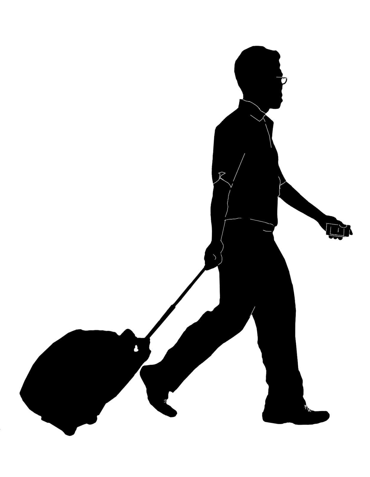 Stock Pictures: Men with luggage or travel trolley bags