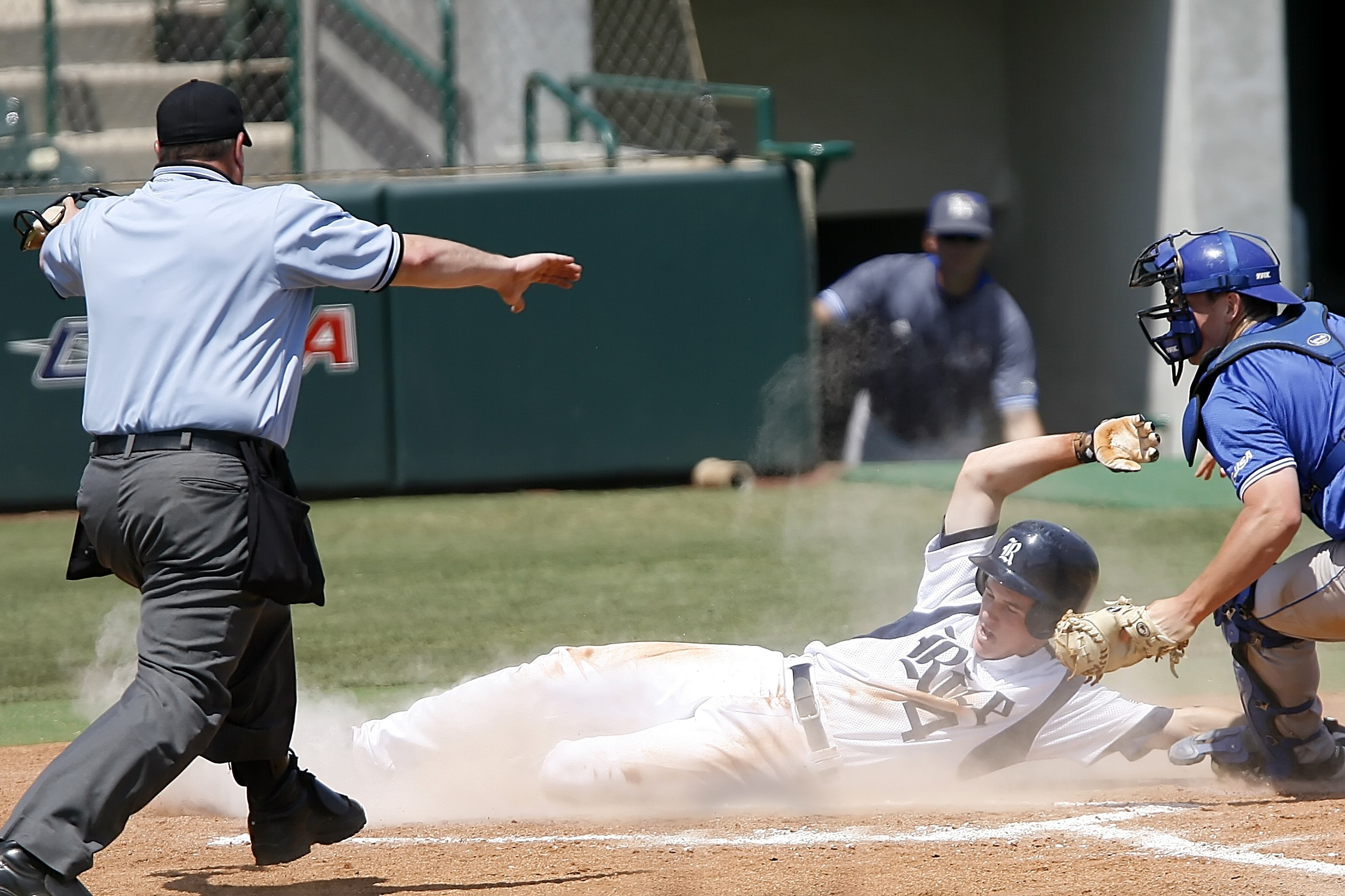 Man With White T Shirt Running to Baseball Home, Athletes, Baseball, Baseball players, Catcher, HQ Photo