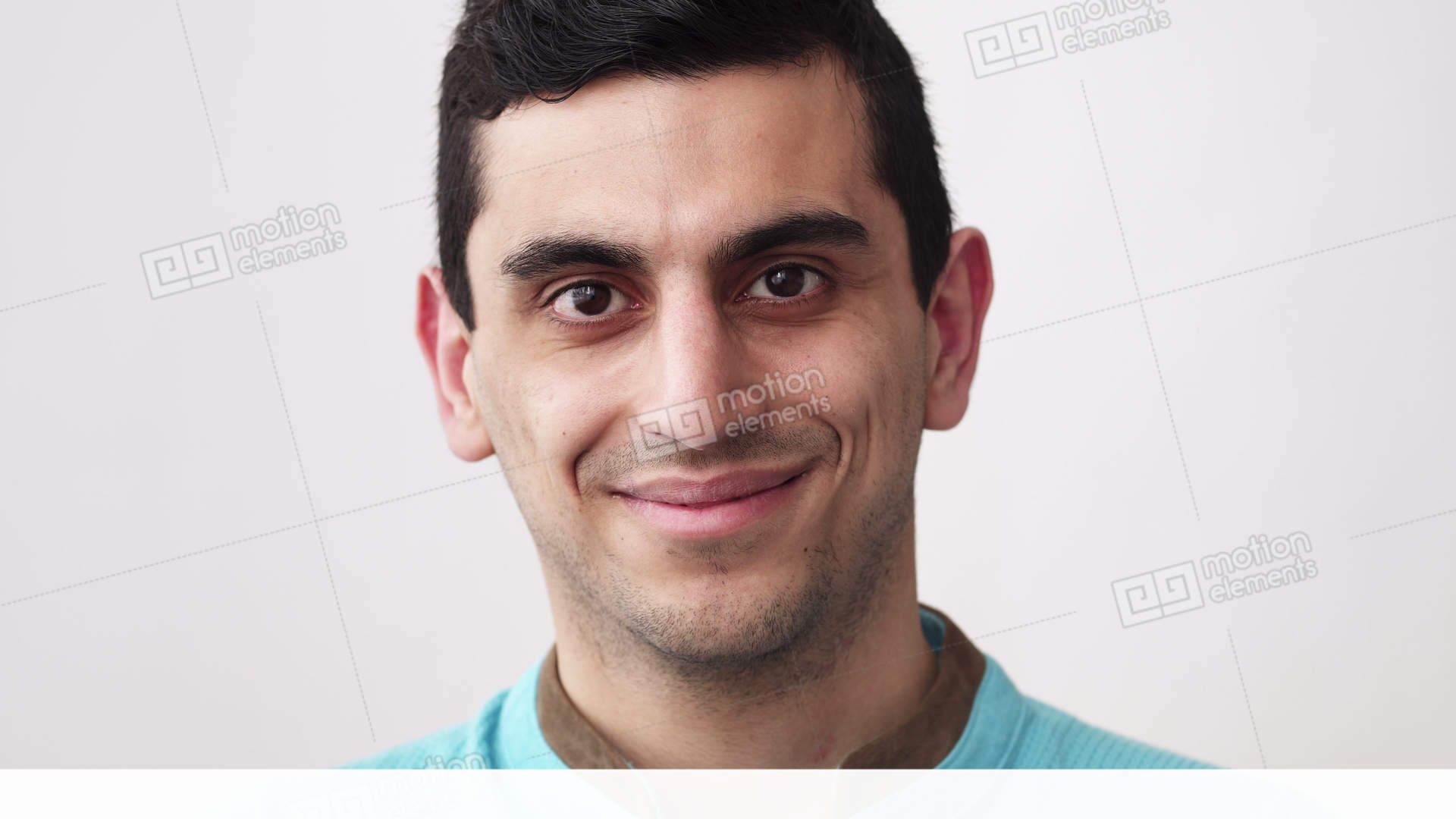 Close-up Of A Happy Middle Eastern Man's Face Stock video footage ...