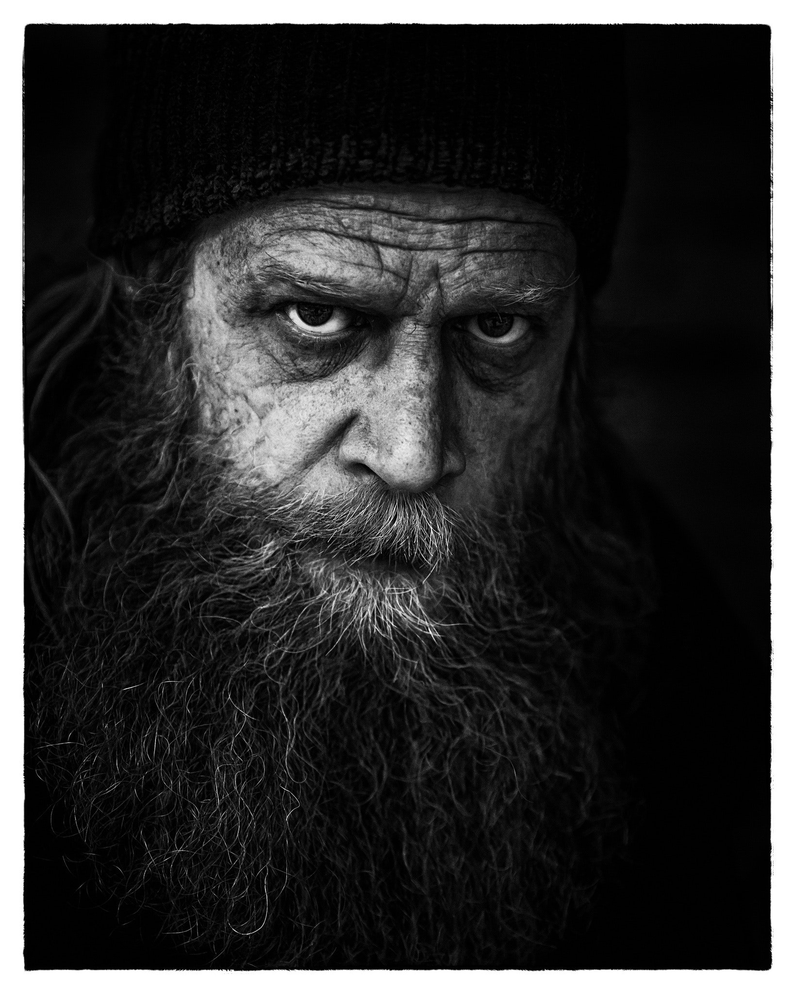 Man's Face in Grayscale Photography, Adult, Angry, Beard, Black-and-white, HQ Photo
