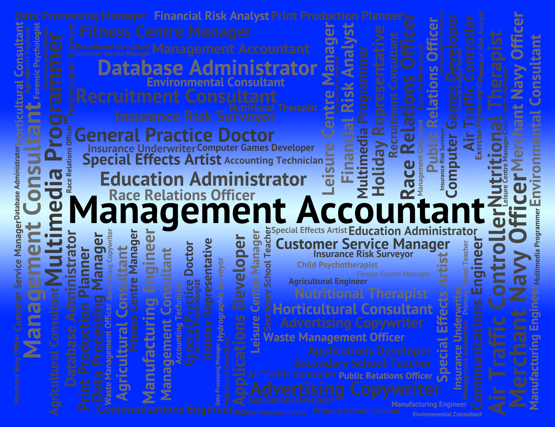 Management accountant indicates balancing the books and accounta photo