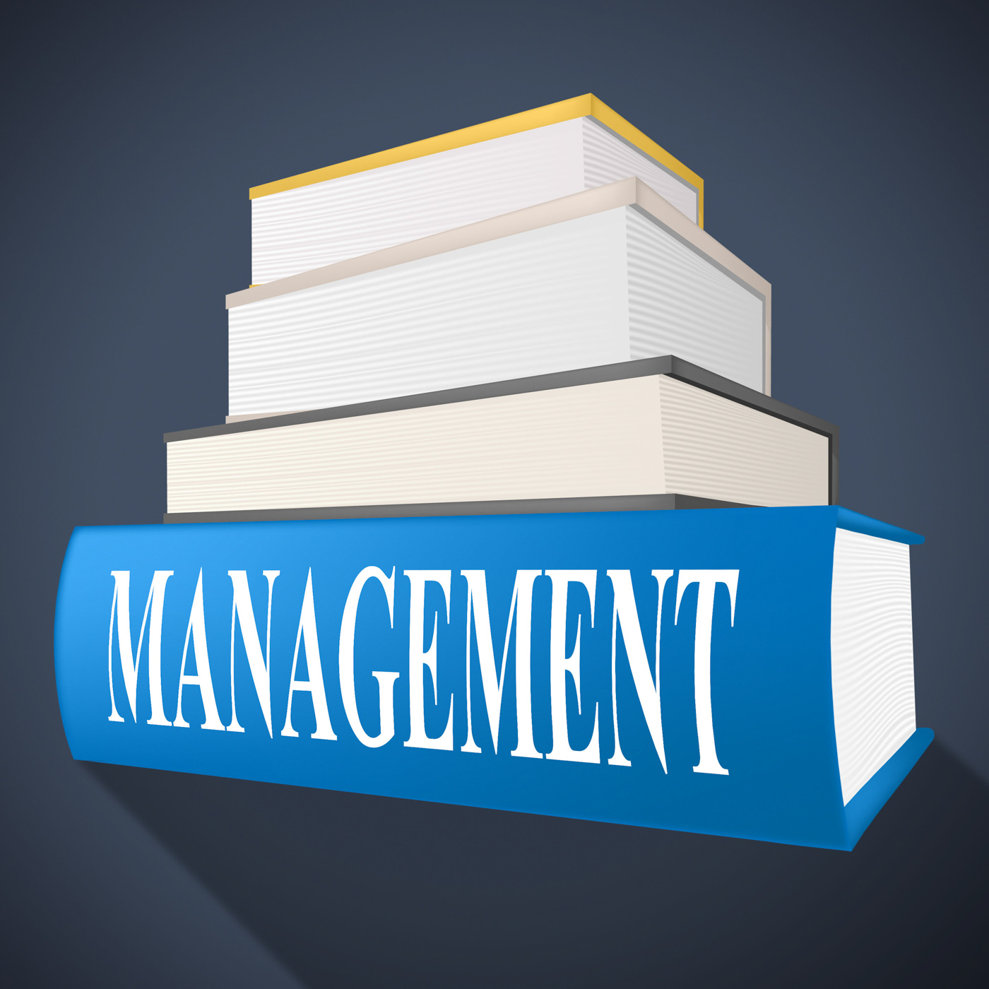 Management book represents bosses company and directorate photo
