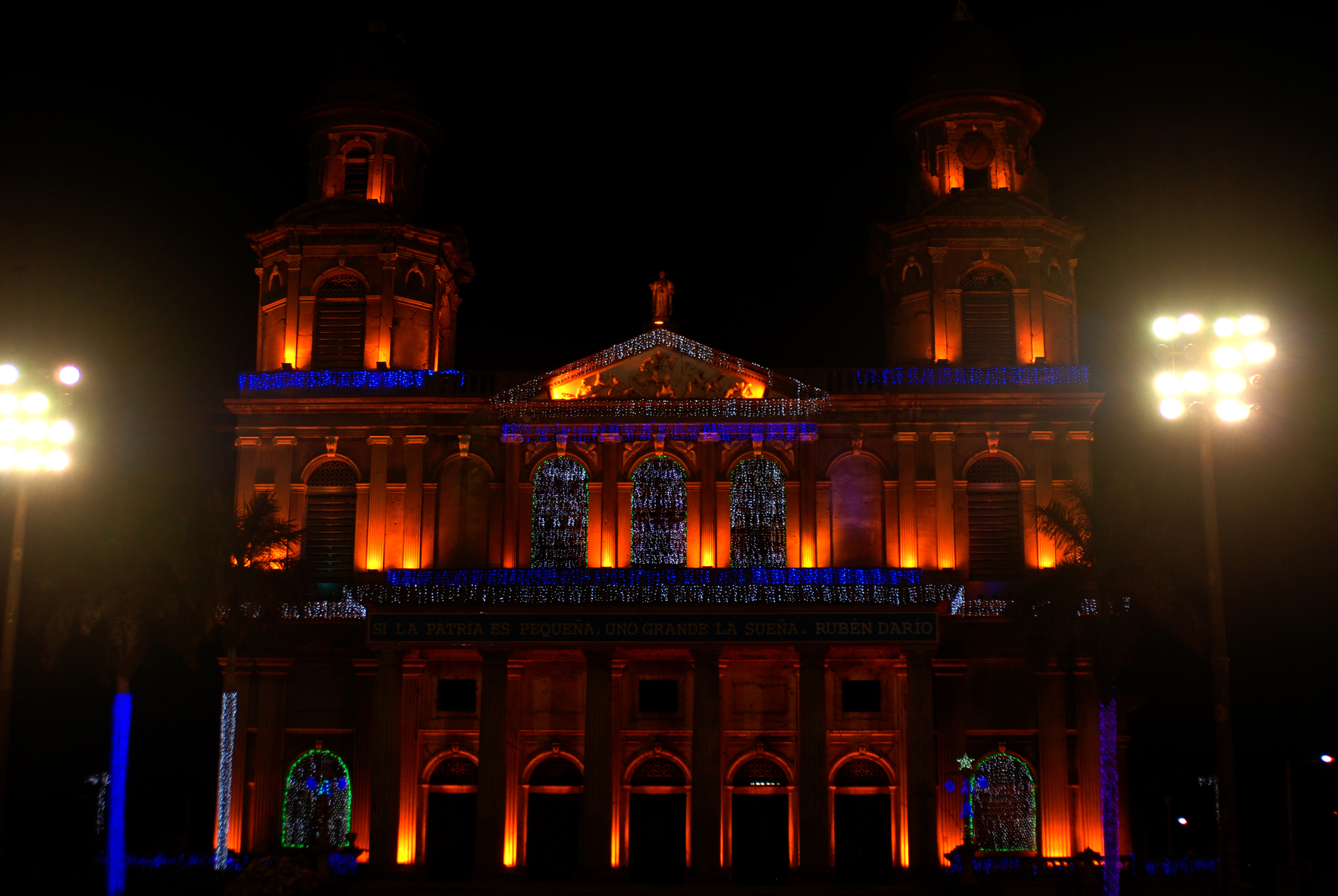Managua's Old Catedral, Architecture, Building, Night, HQ Photo