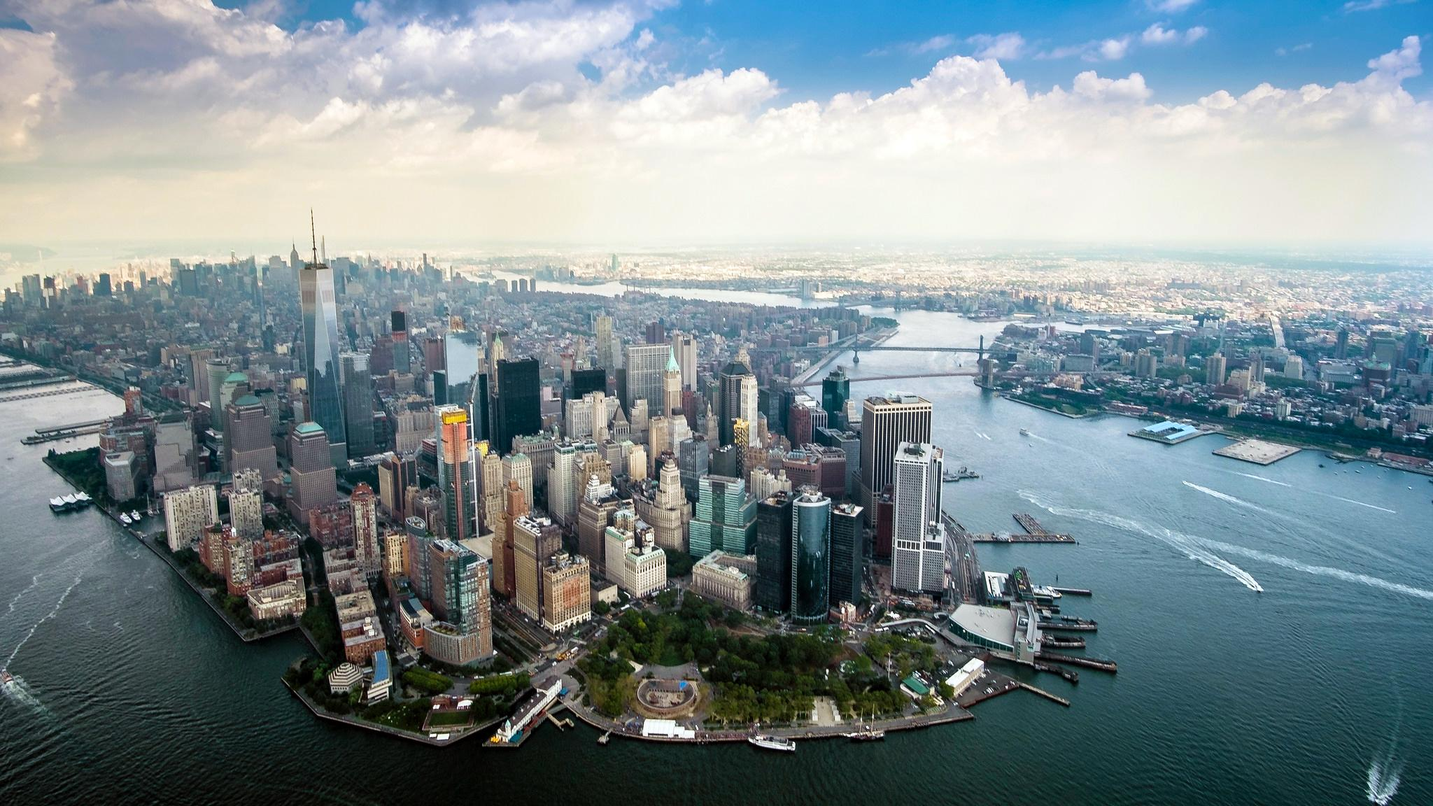 Manhattan aerial photo