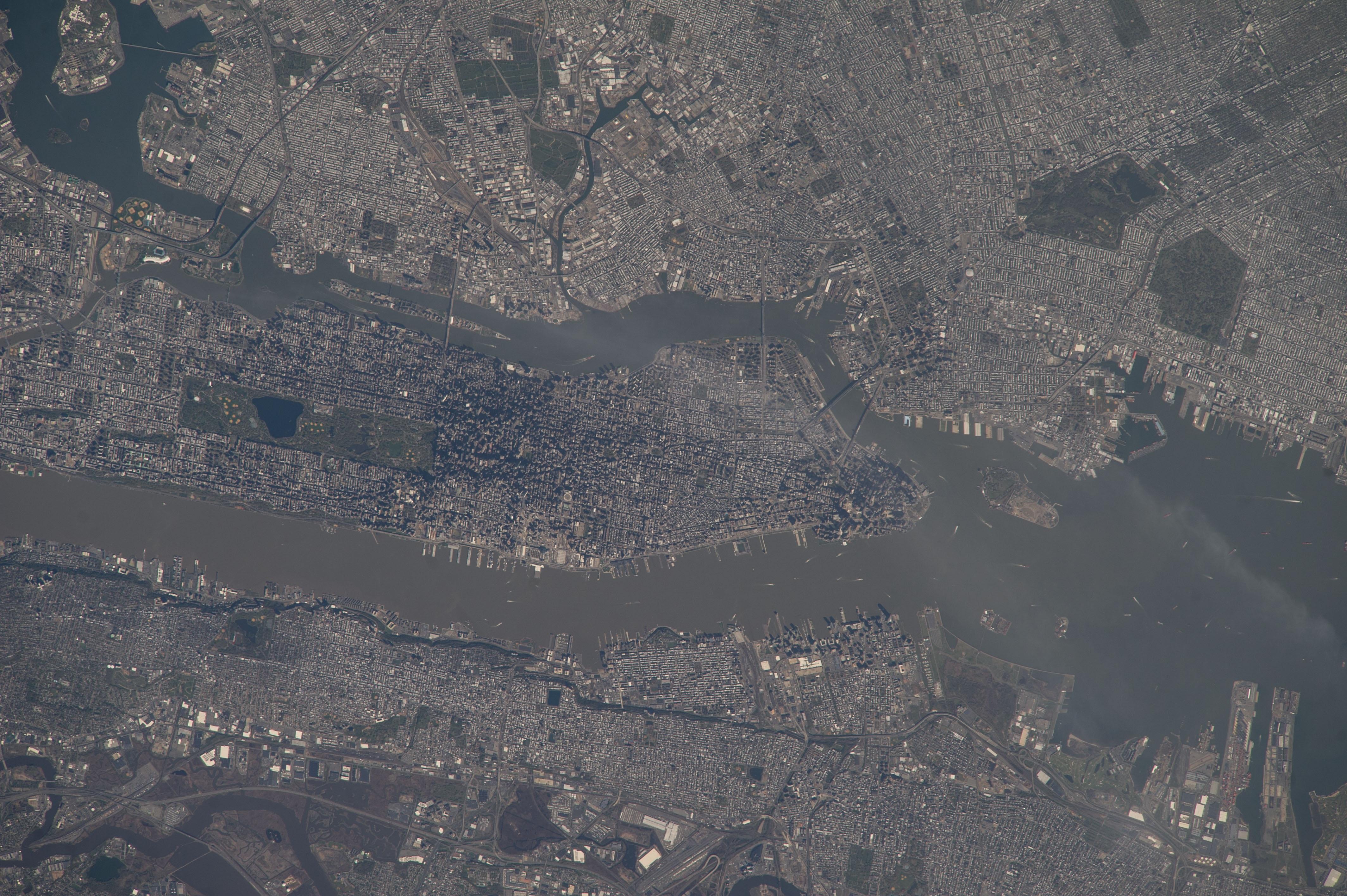 Manhattan city aerial view photo