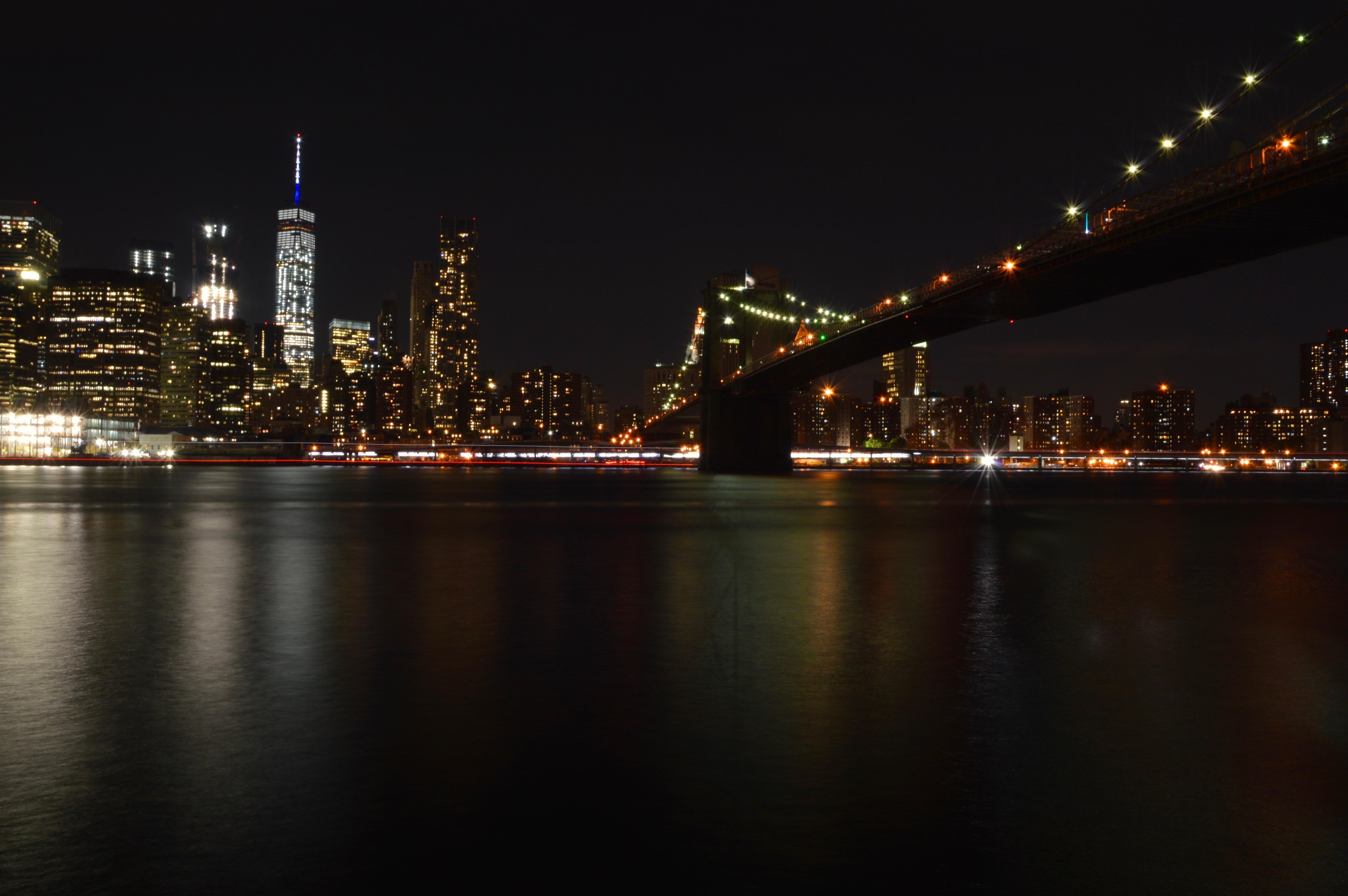 Manhattan from Brooklyn, Architecture, Nyc, Waterfront, Water, HQ Photo