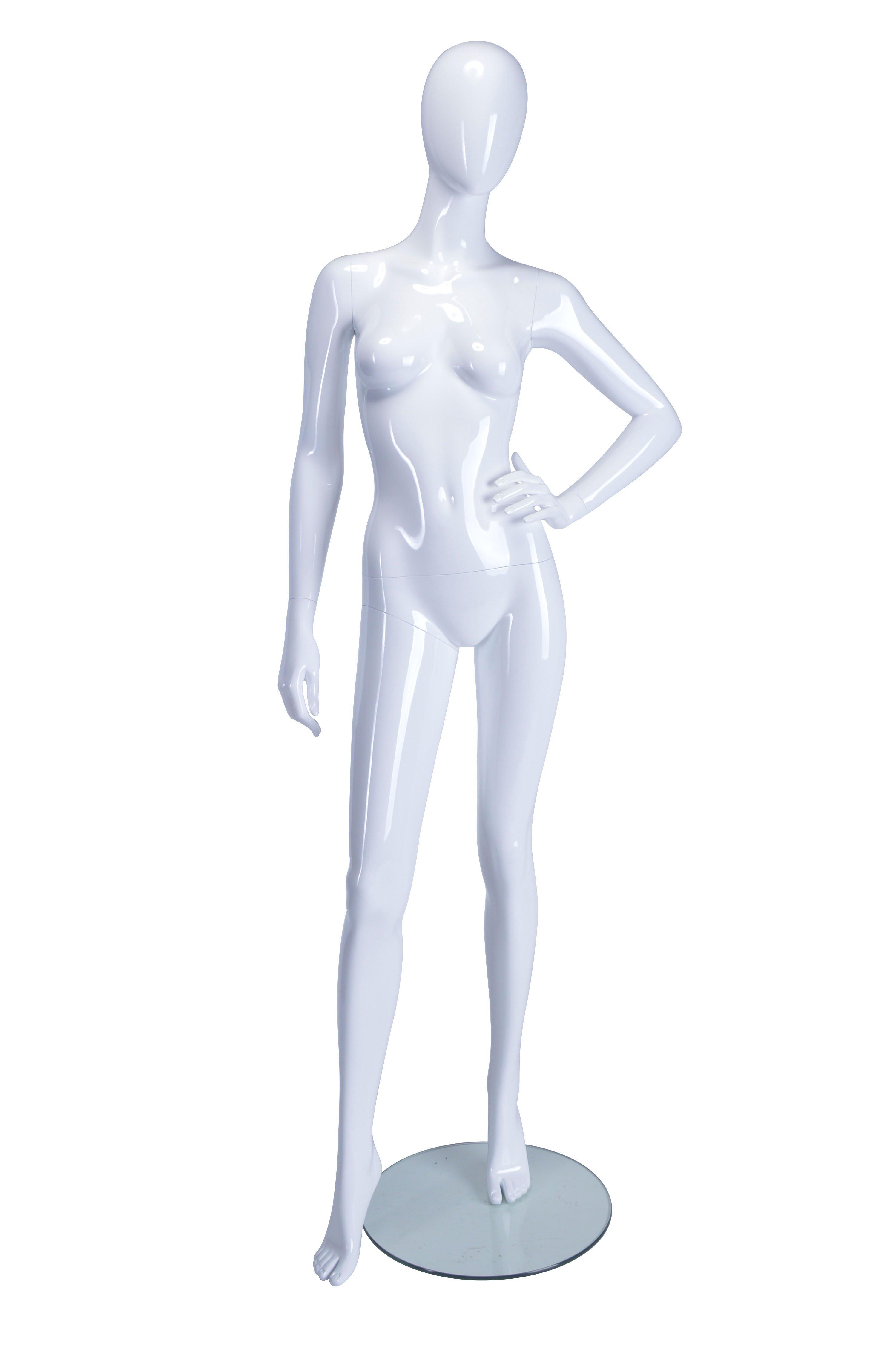 Female Mannequin Hand on Left Hip - White Glossy | Heartbeat UK