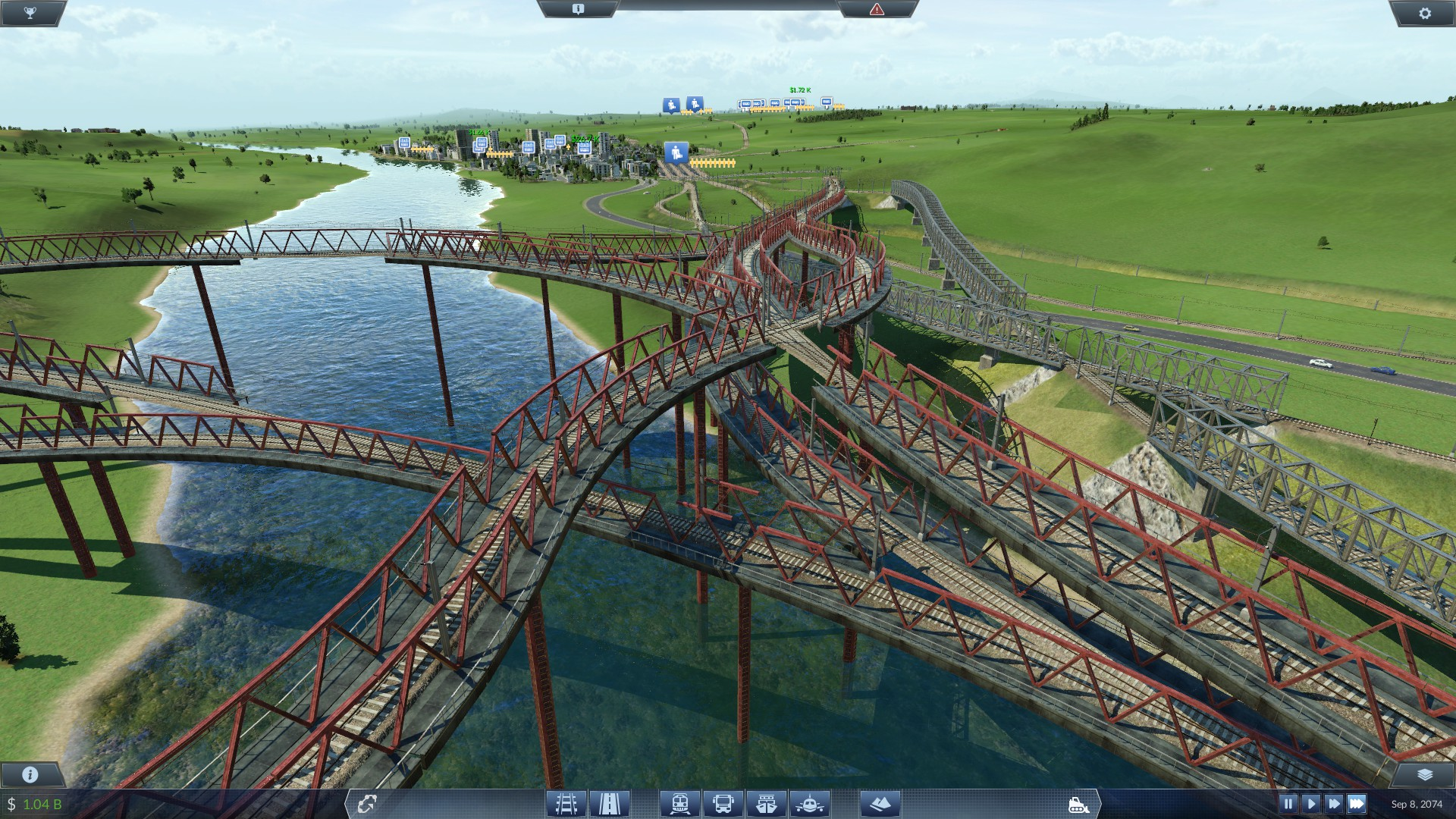 Too many bridges or nah? : TransportFever