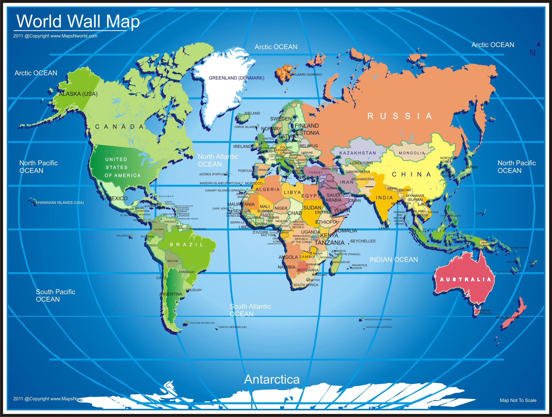 World wall map, wall map