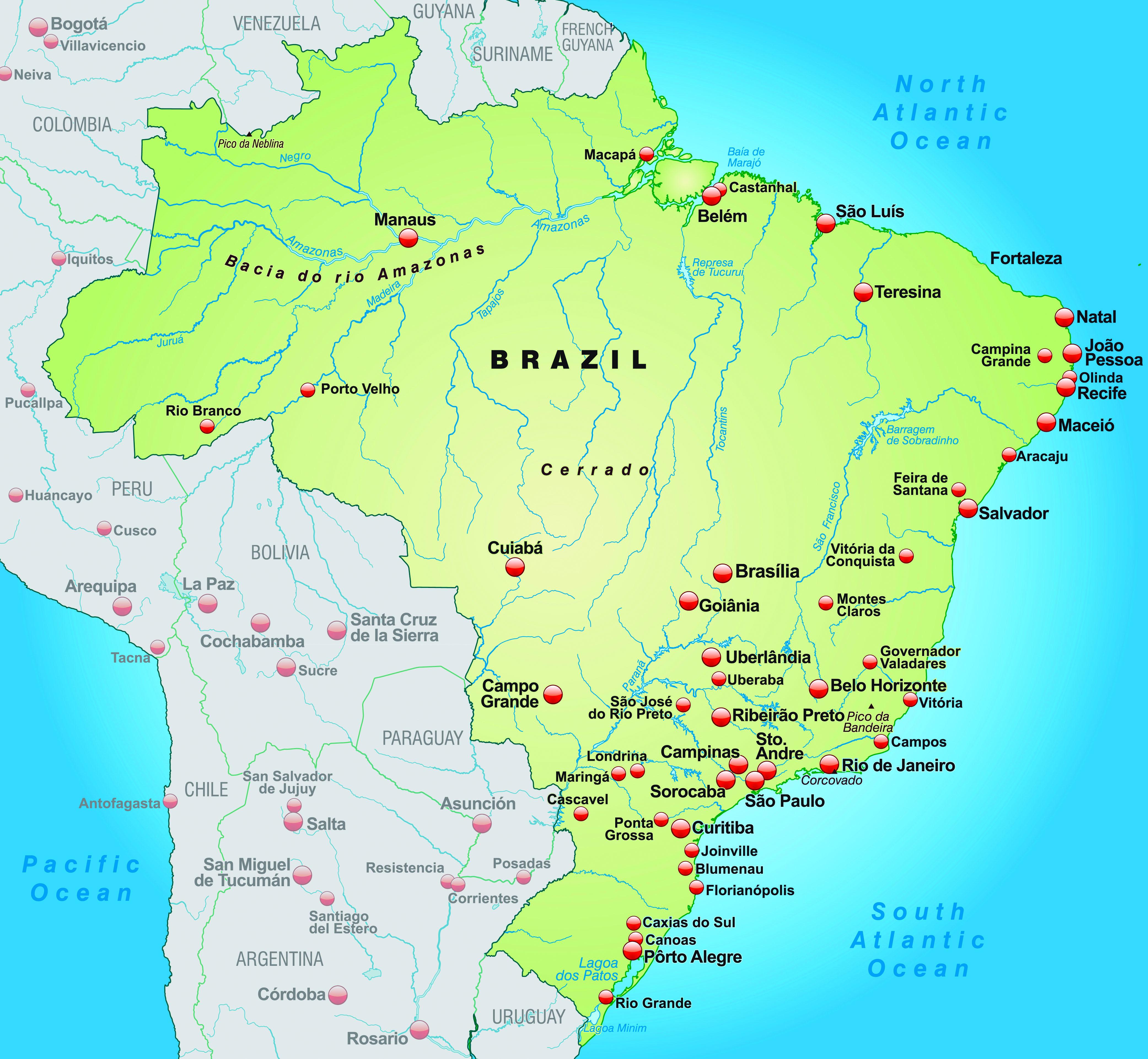 Free photo: Map of Brazil - Amazon, Atlas, Bolivia - Free ...