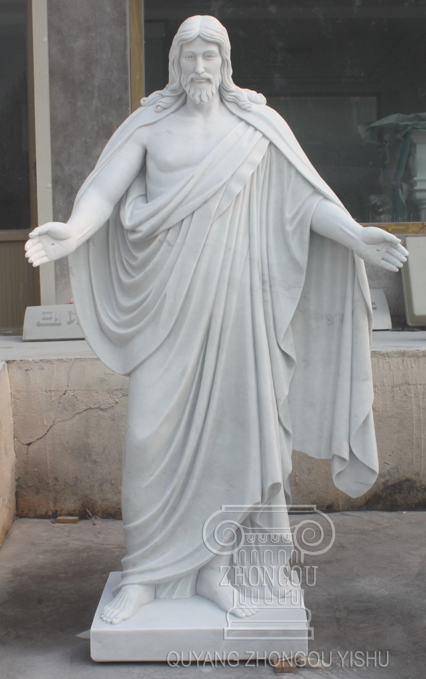 China Marble Jesus Statue with High Carving Quality, on Sale ...