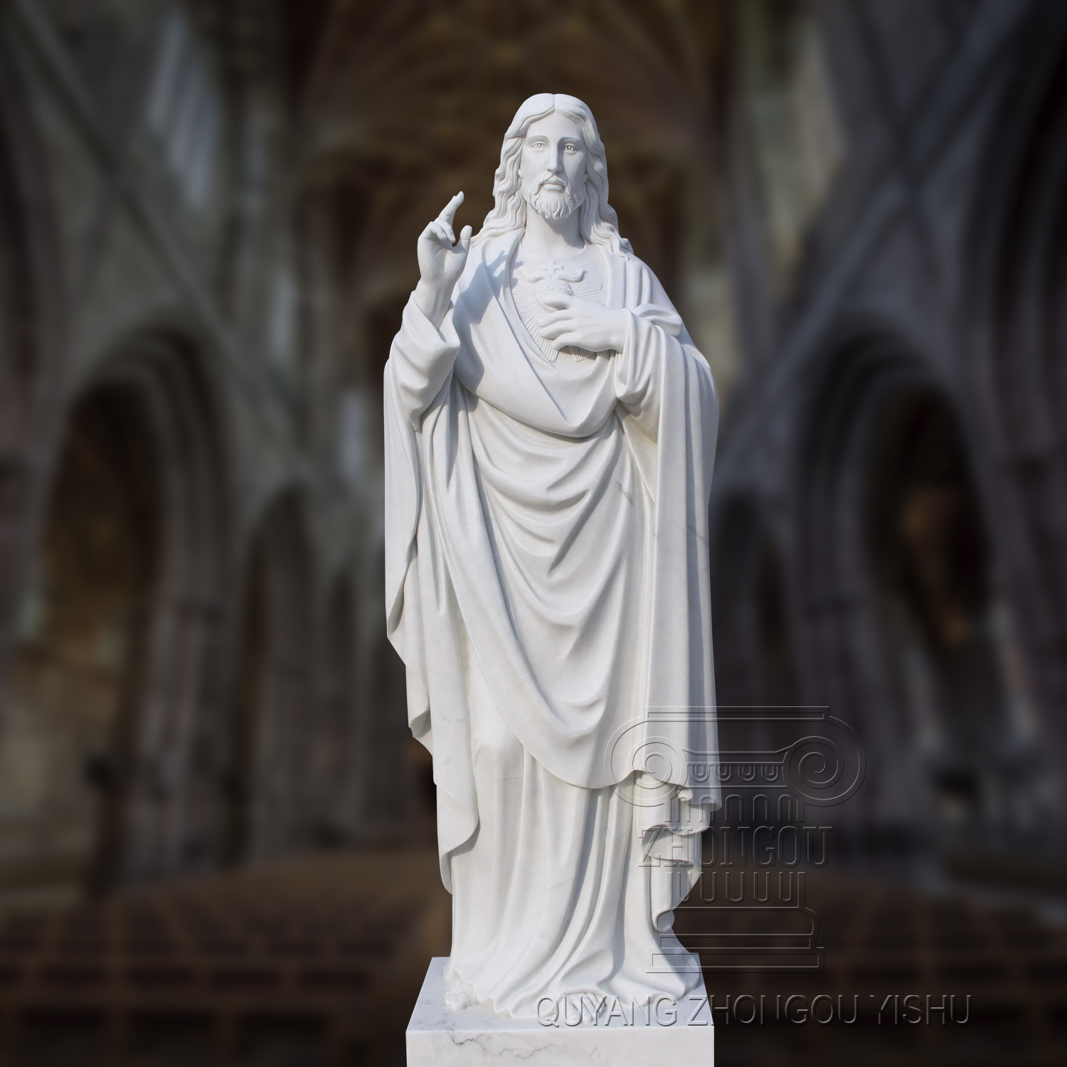 China Marble Statue of Jesus with High Quality, Religious Statue ...