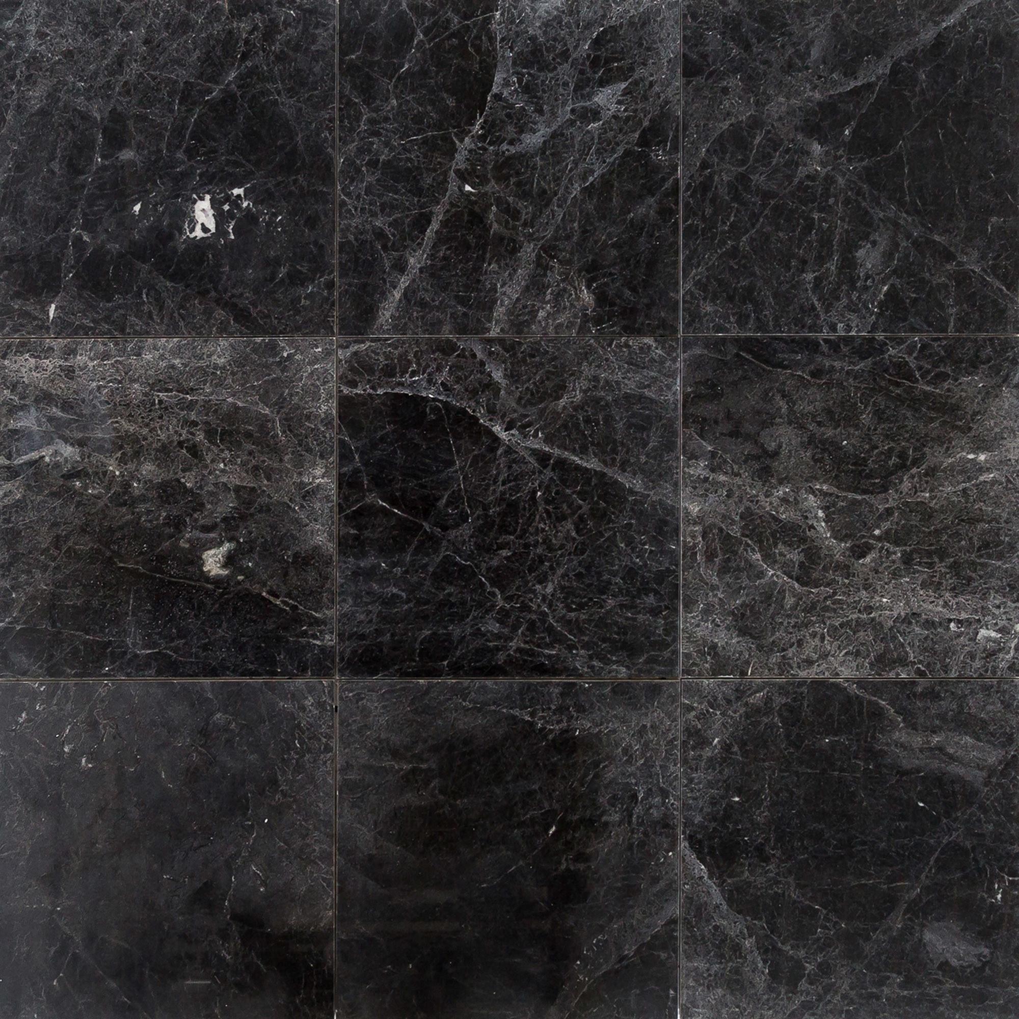 FREE Samples: Troya Marble Tile Sirius Black / 18