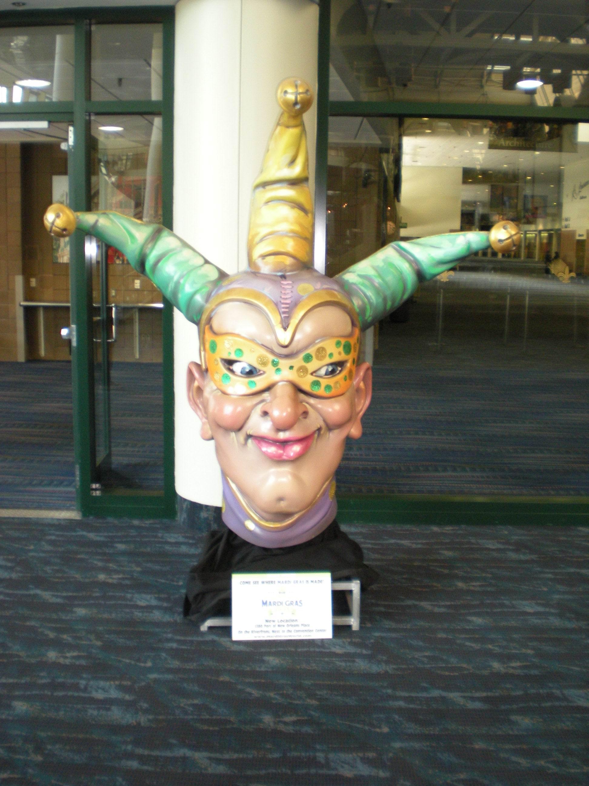 Mardi gras jester head photo