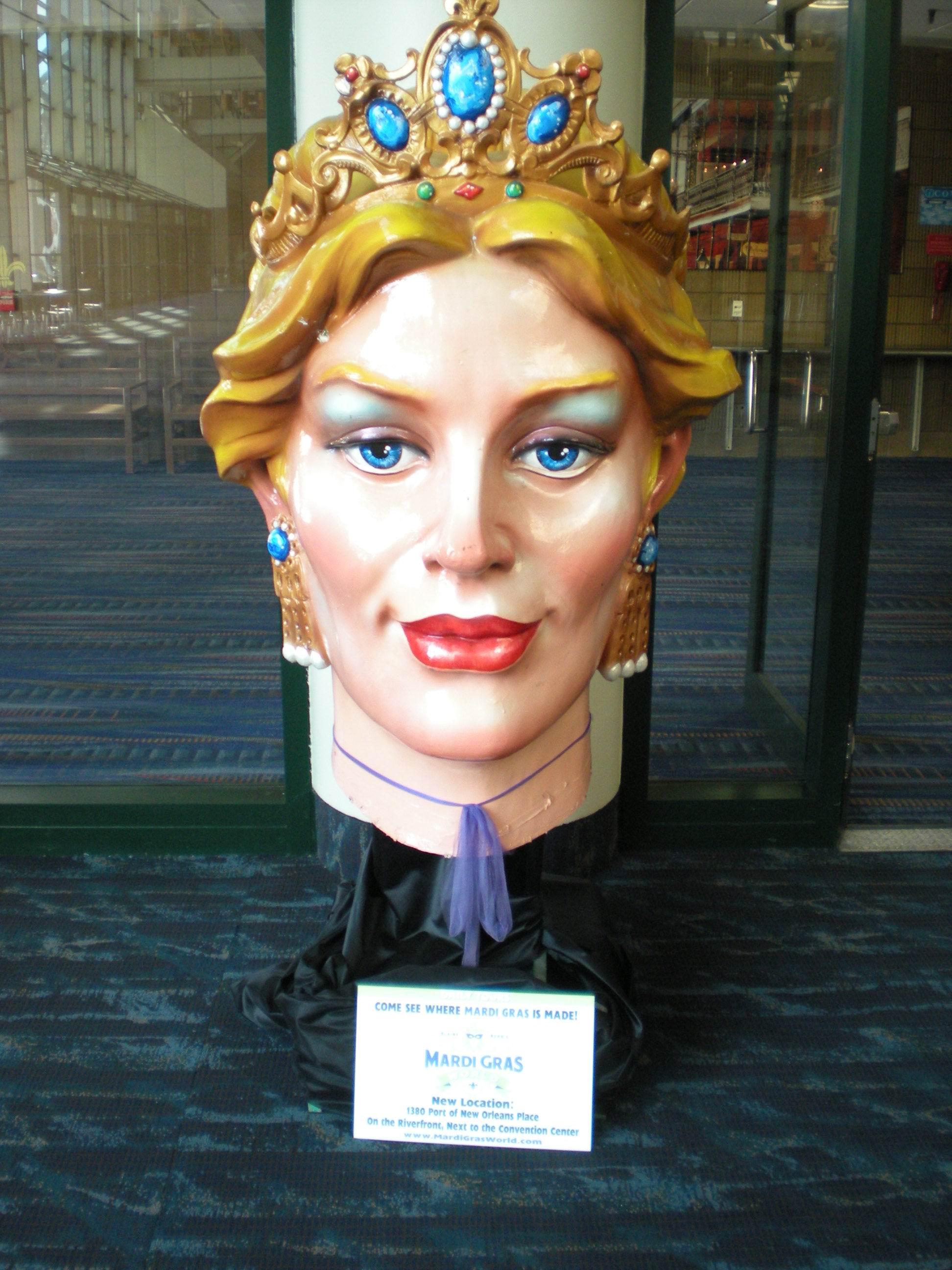Mardi gras queen head photo