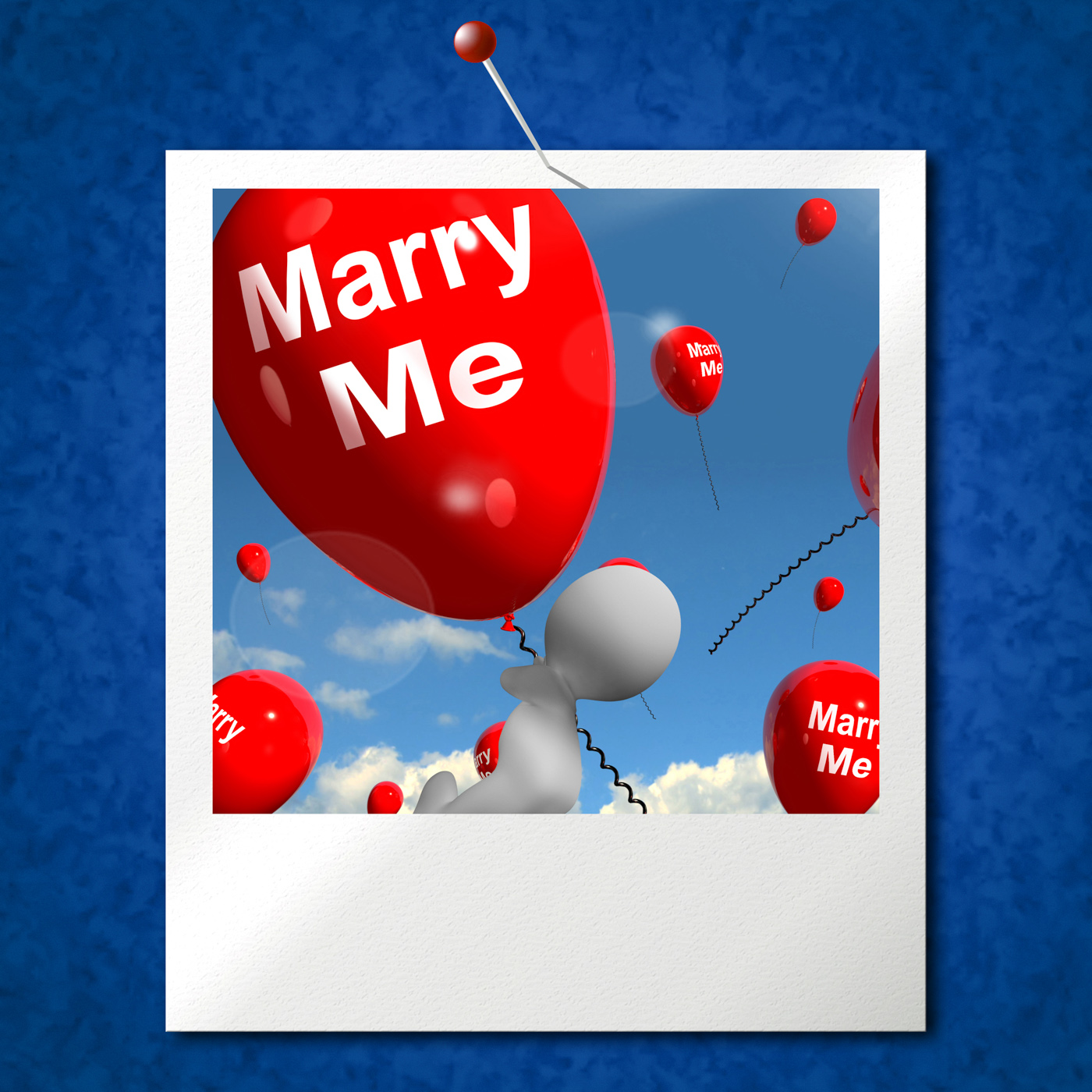 Marry me balloons photo represents engagement proposal for lovers
