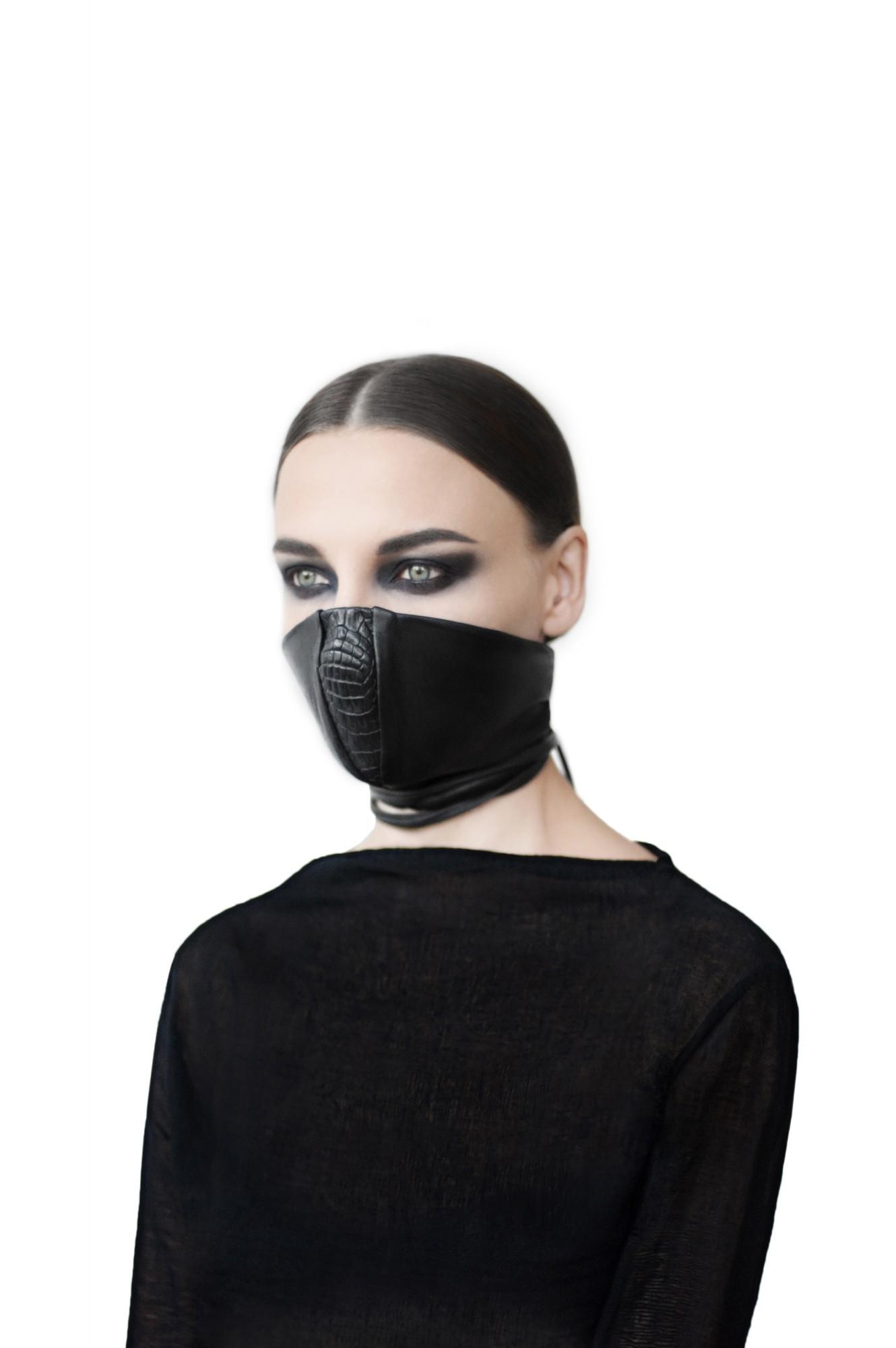 Nutsa Modebadze NM7070 crocodile leather mask - unconventional