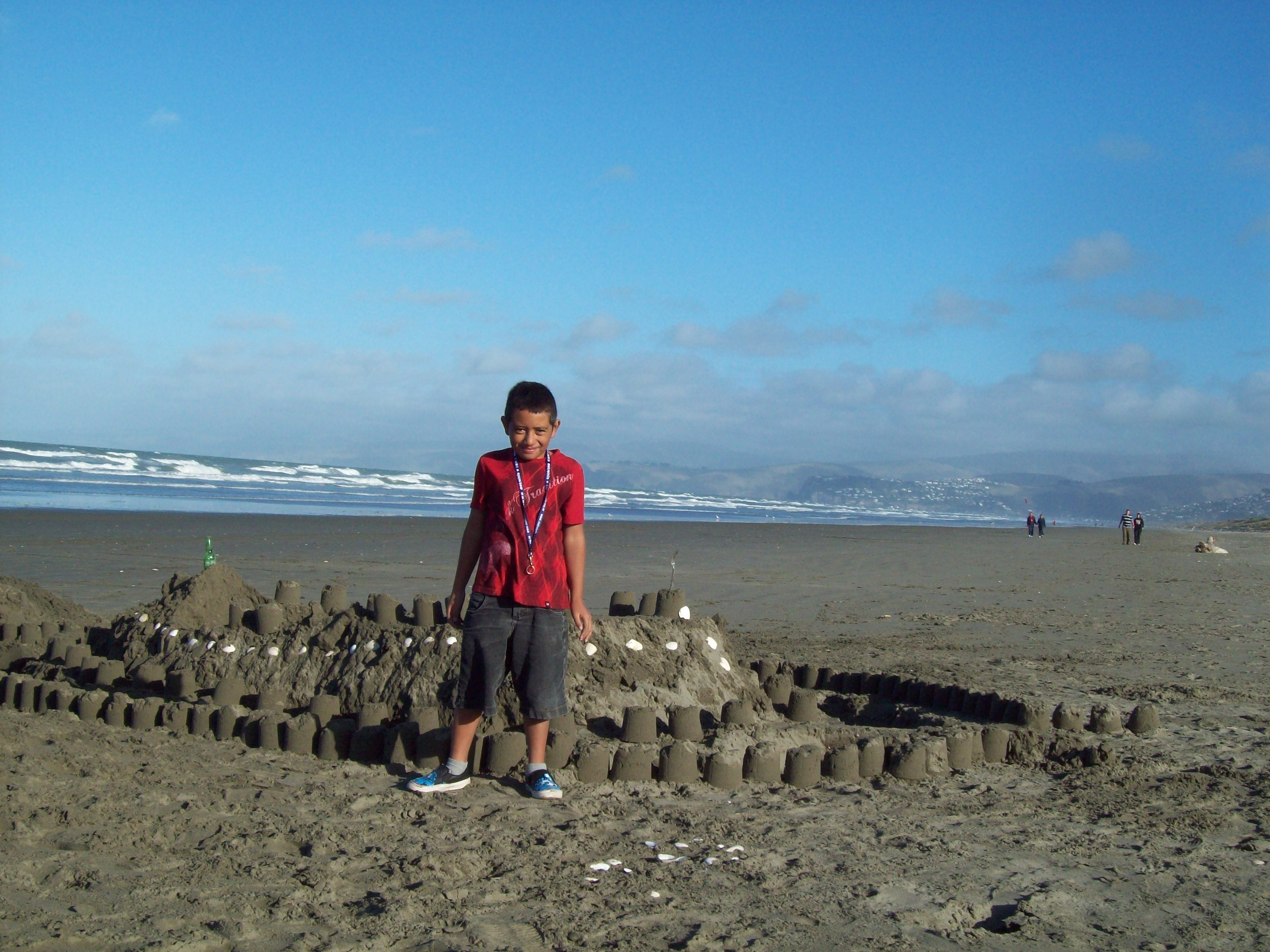 Master toa and his sand castle at new br photo