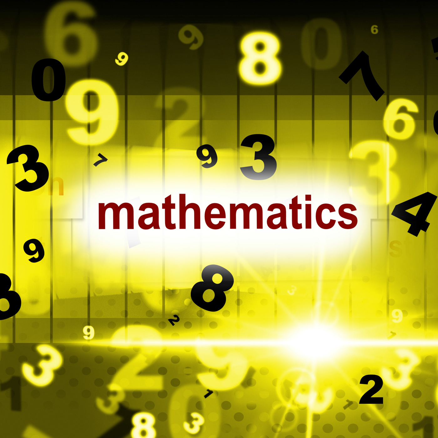 Mathematics counting shows one two three and maths photo