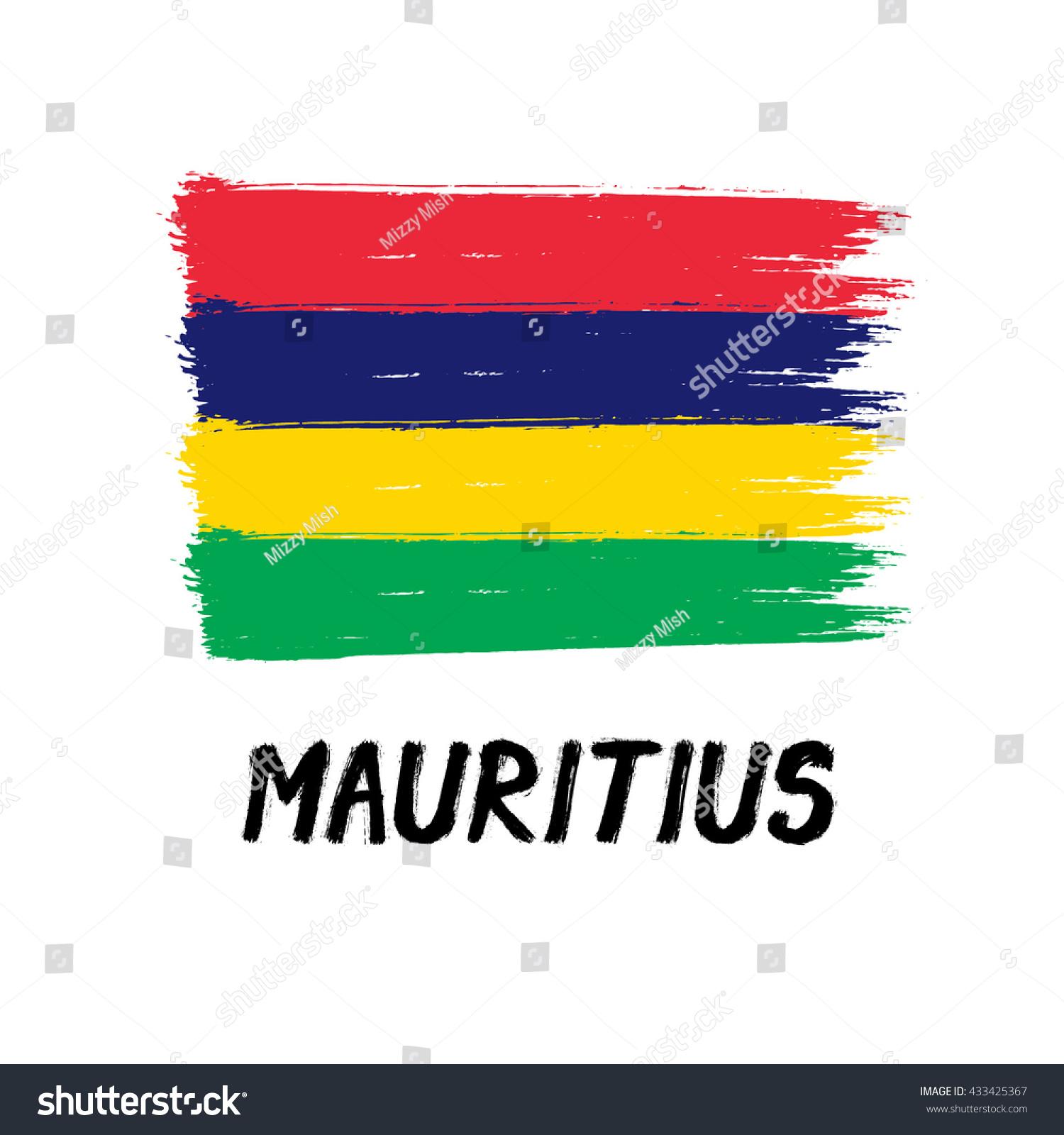 Flag Mauritius Grunge Stock Vector 433425367 - Shutterstock