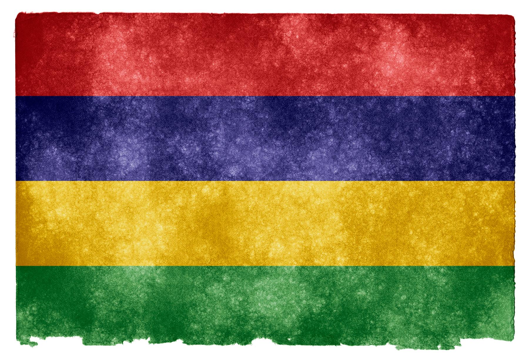 Mauritius Grunge Flag, Africa, Resource, Nation, National, HQ Photo