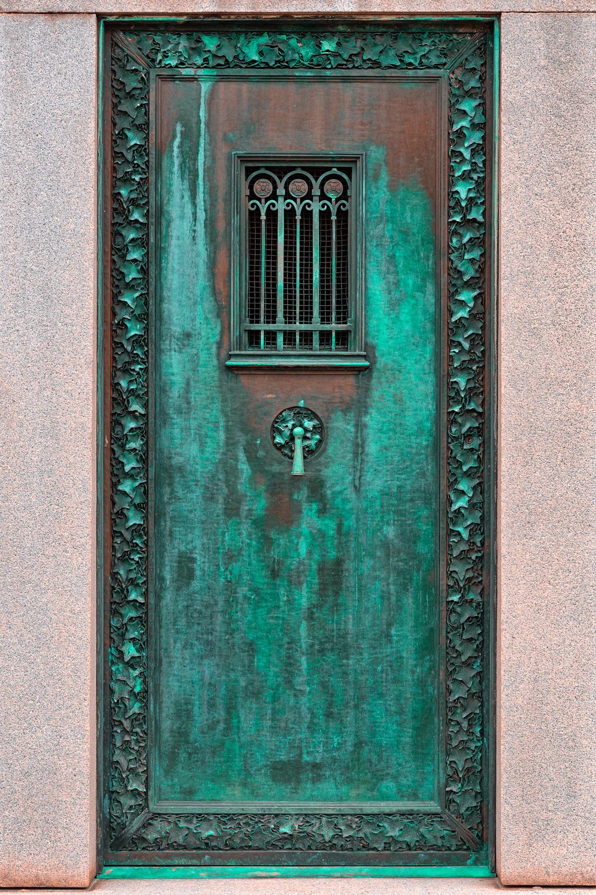 Mausoleum door - hdr photo