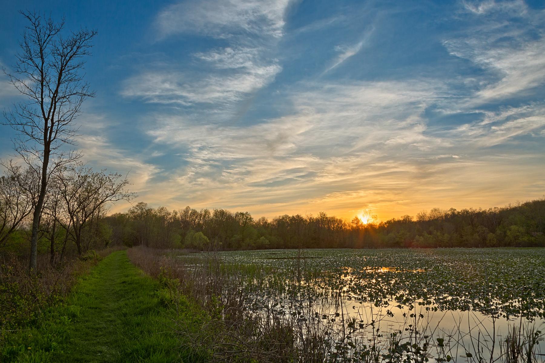 Mckee-beshers sunset marsh - hdr photo