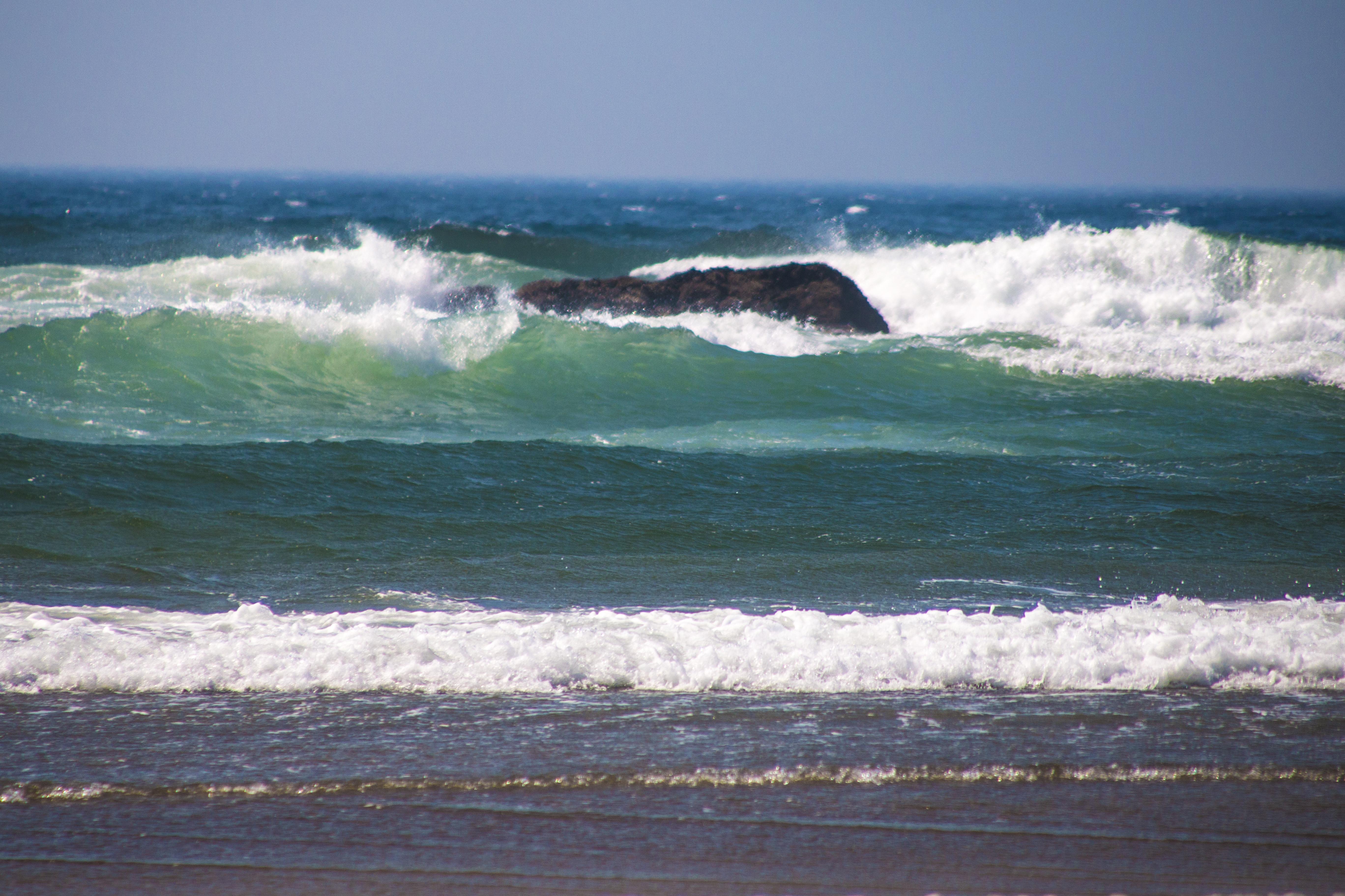 Mcphillips beach, oregon, blue green sea photo