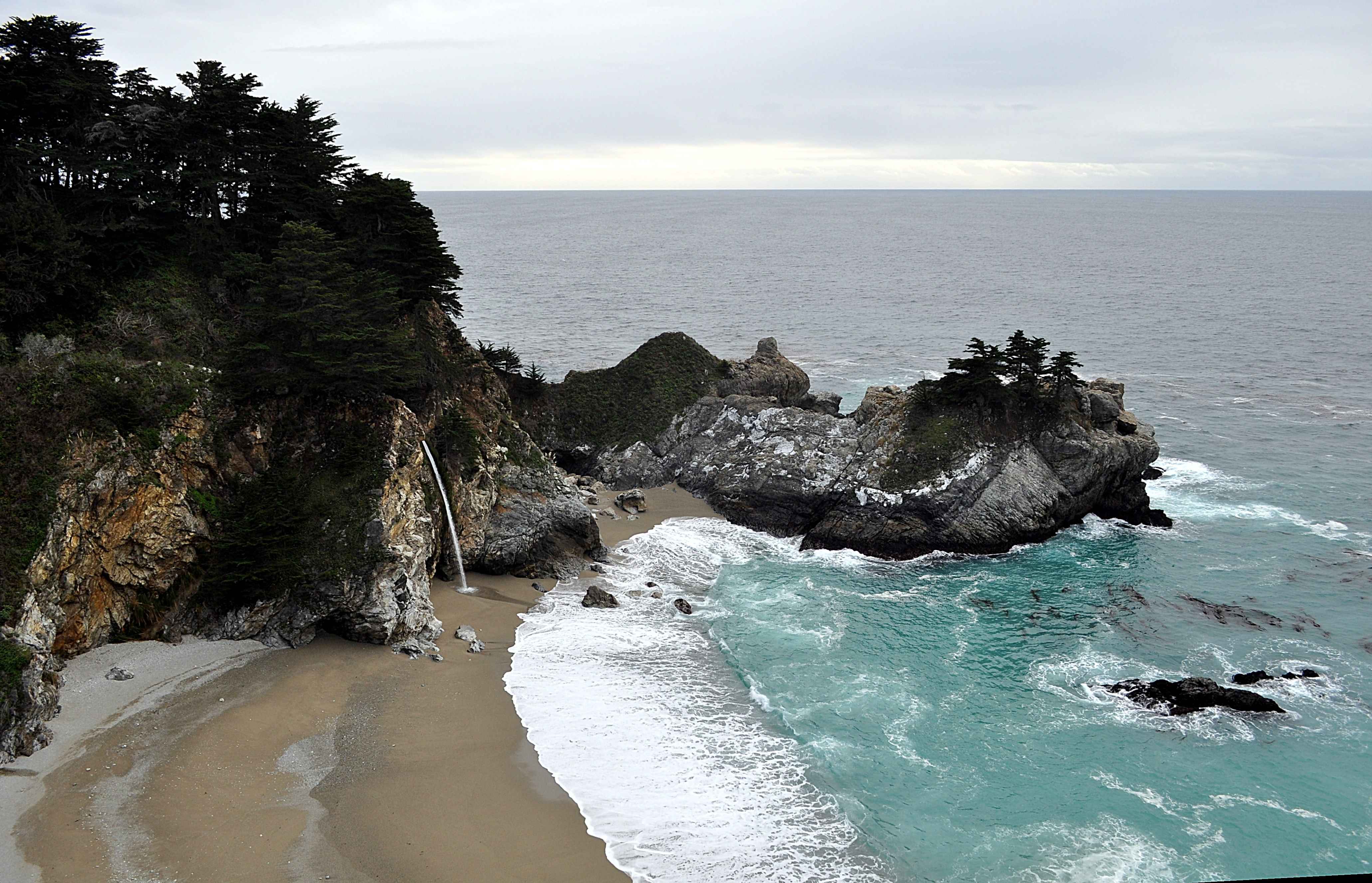 McWay Falls - Julia Pfiffer Burns State Park, Big Sur, CA, Beach, Coast, Ocean, Sea, HQ Photo