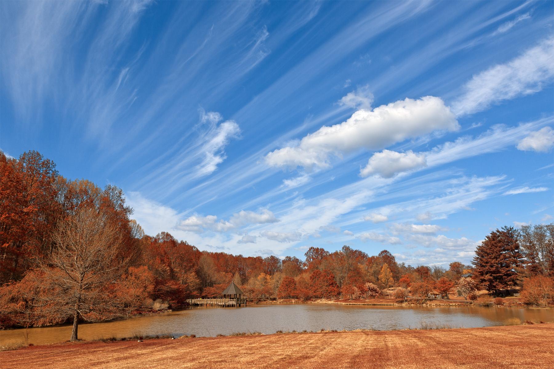 Meadowlark gardens - autumn warm hdr photo