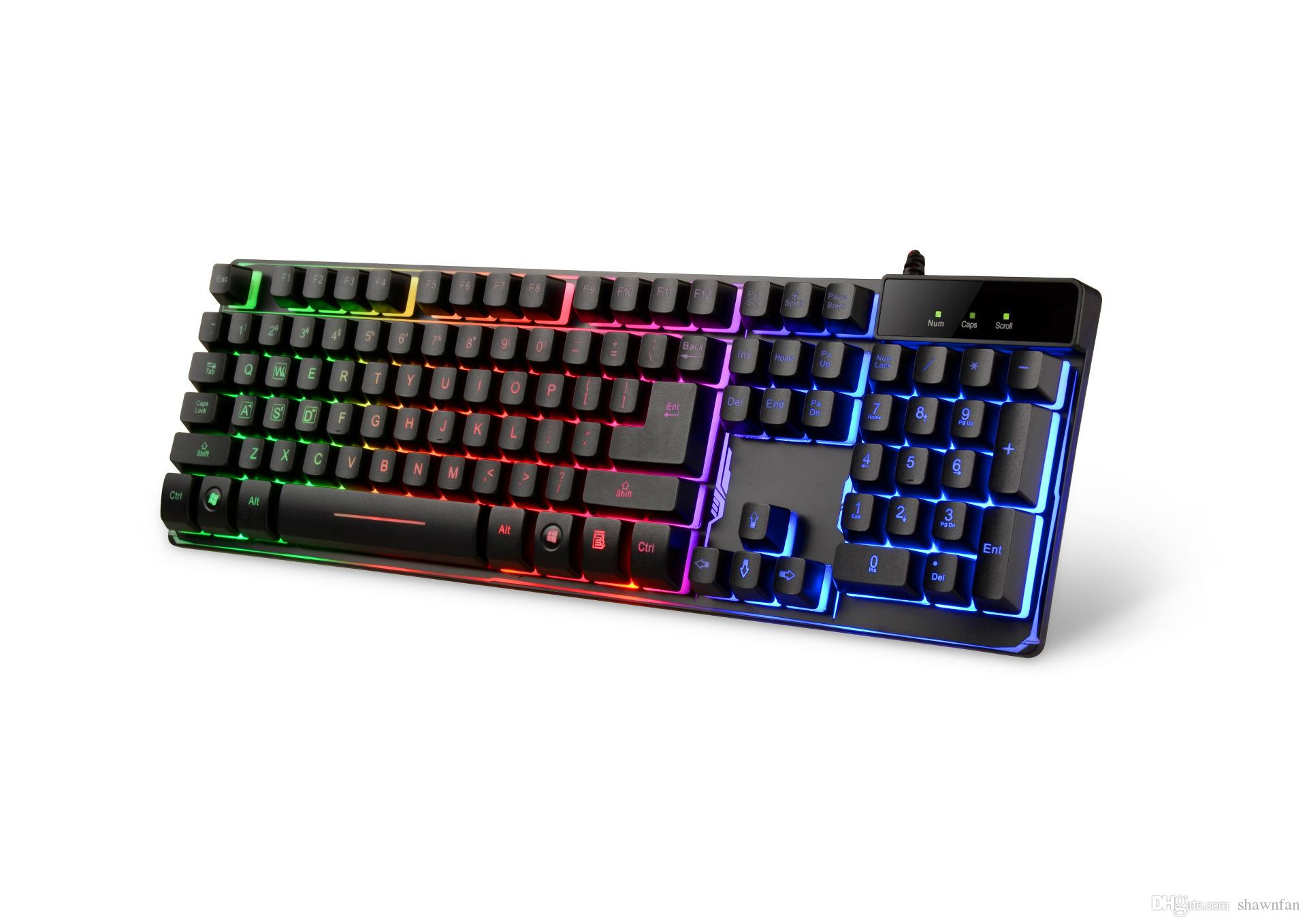 Rgb Keyboard Colorful Backlight Game Mechanical Keyboard Light Usb ...