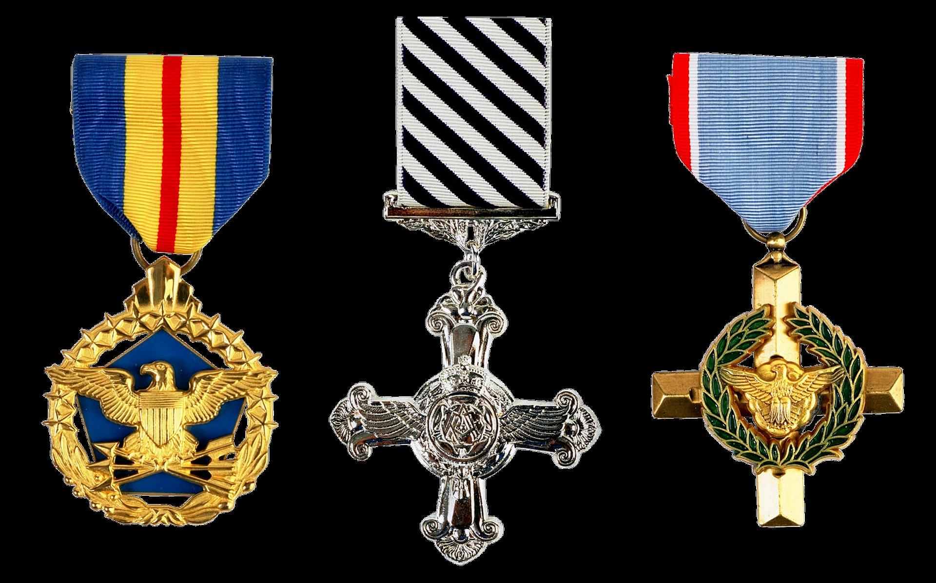 Medals of achievement photo