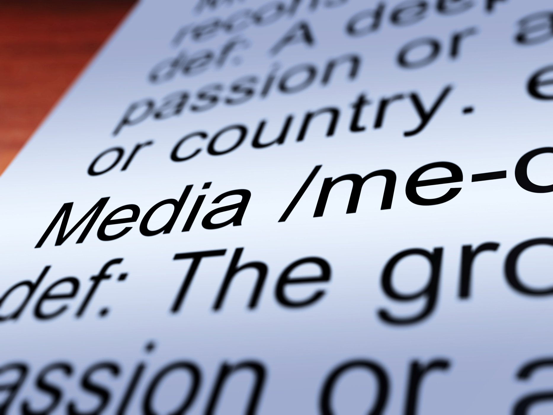 Media Definition Closeup Showing Communication, Ads, Marketing, TV, Television, HQ Photo