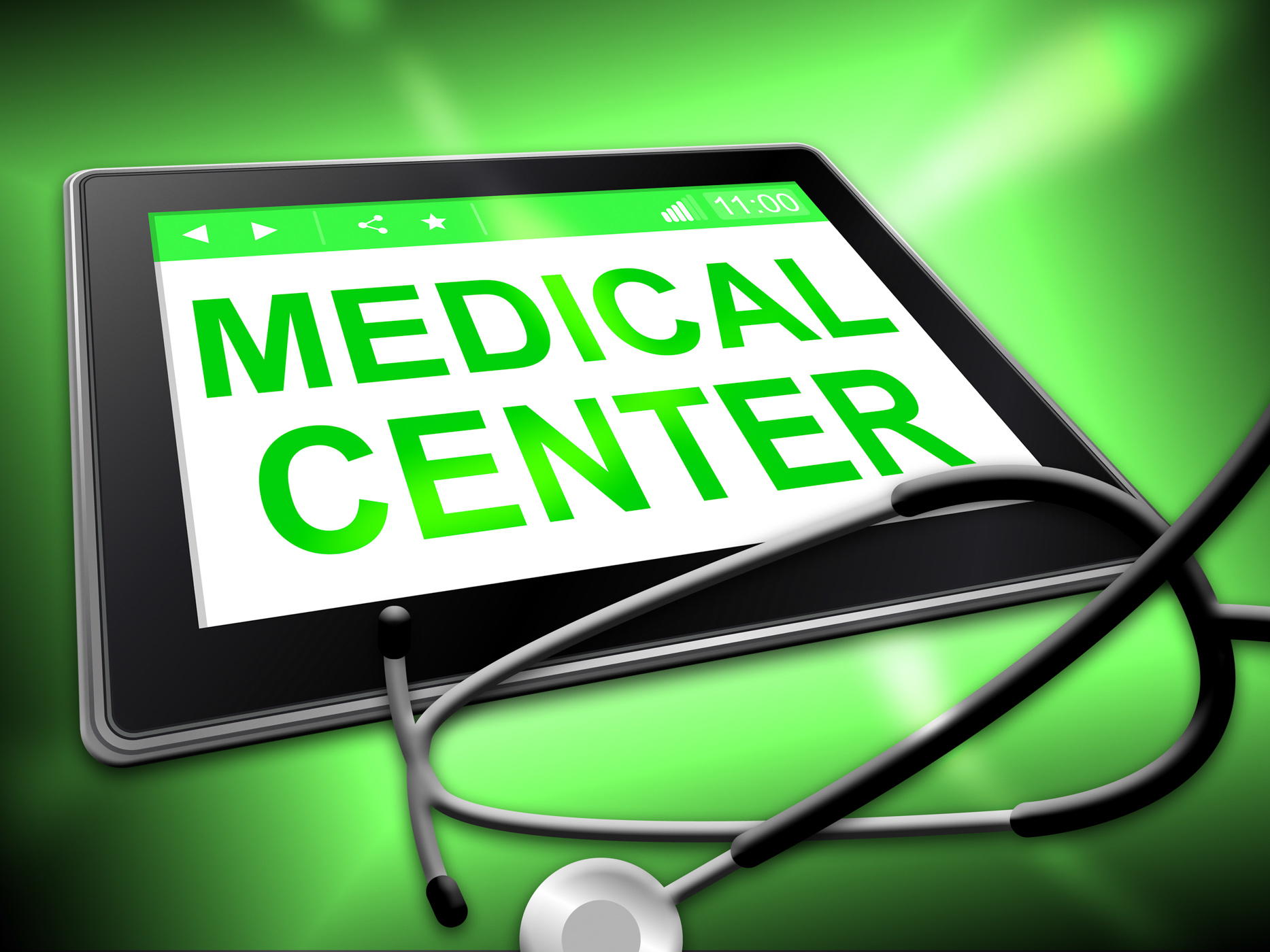 Medical center represents internet hospital and clinics photo