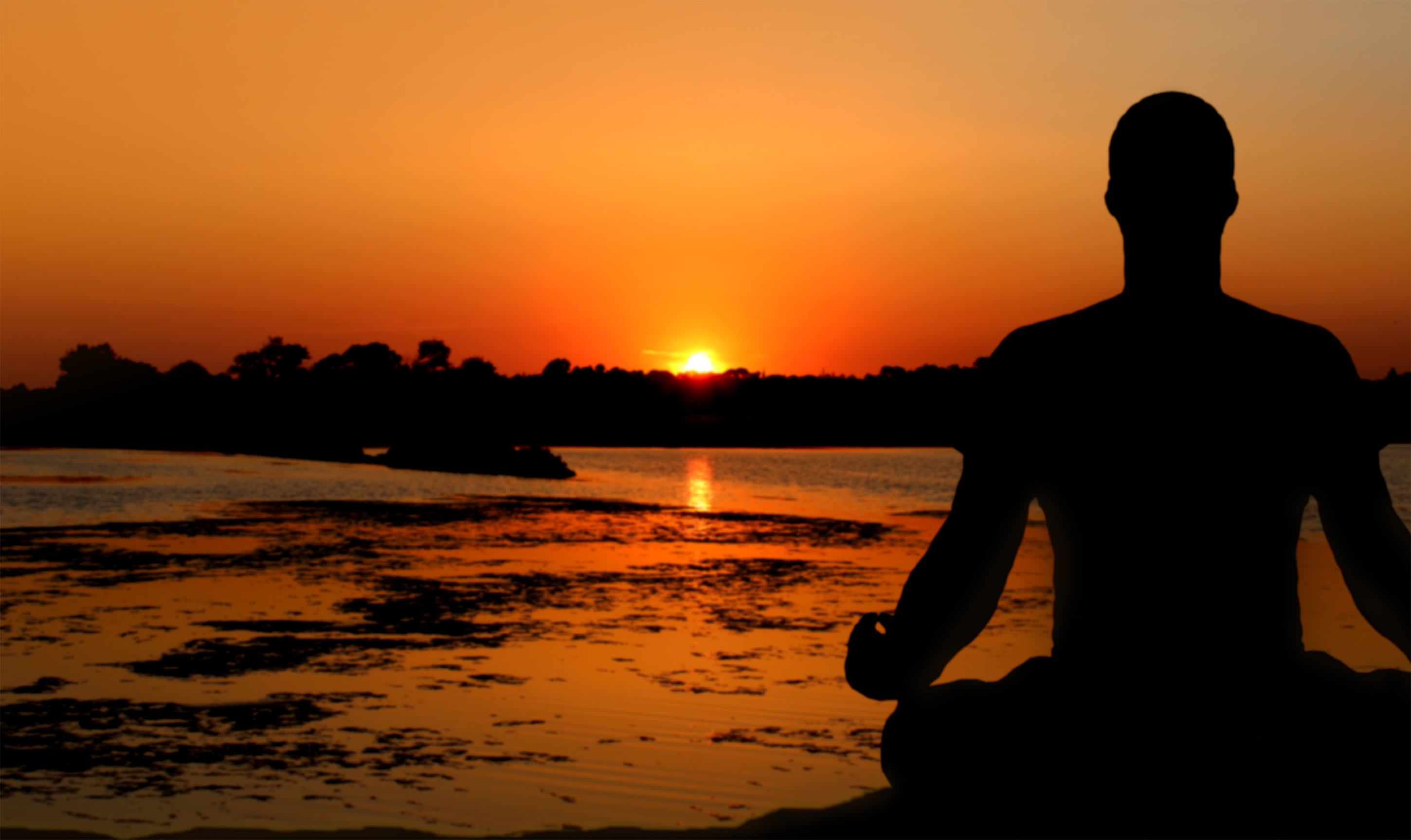Meditation at Sunset, 30s, Pilates, River, Religious, HQ Photo