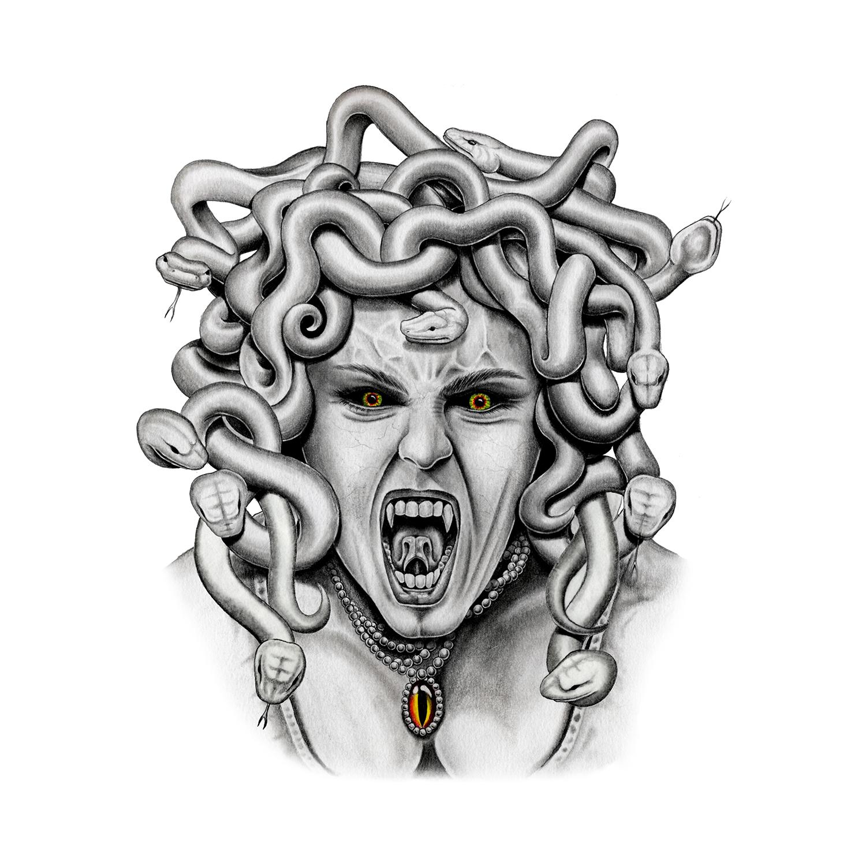 Medusa - Medusa Temporary Tattoo | Momentary Ink